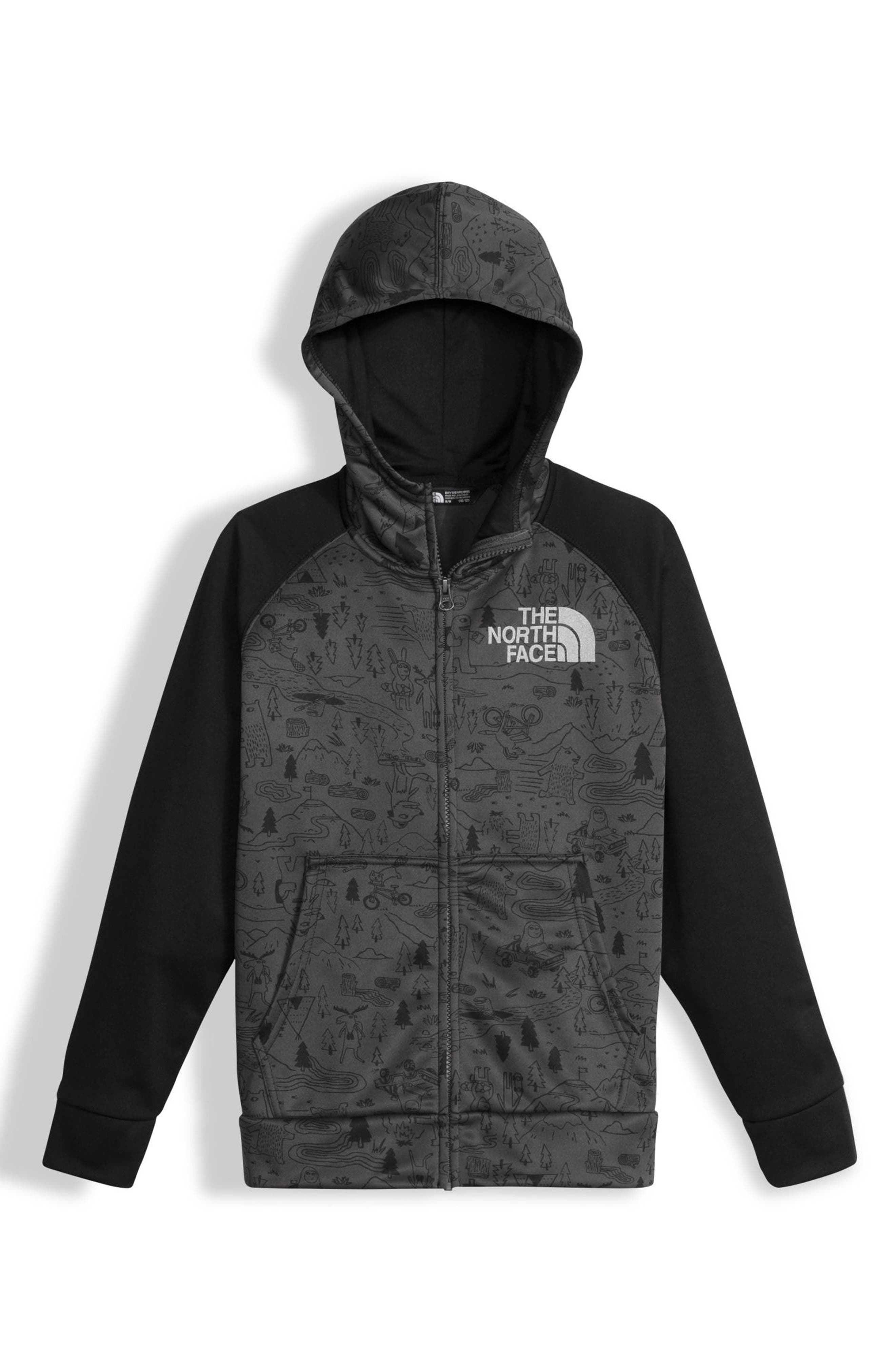 The North Face 'Surgent' Full Zip Hoodie (Little Boys & Big Boys)