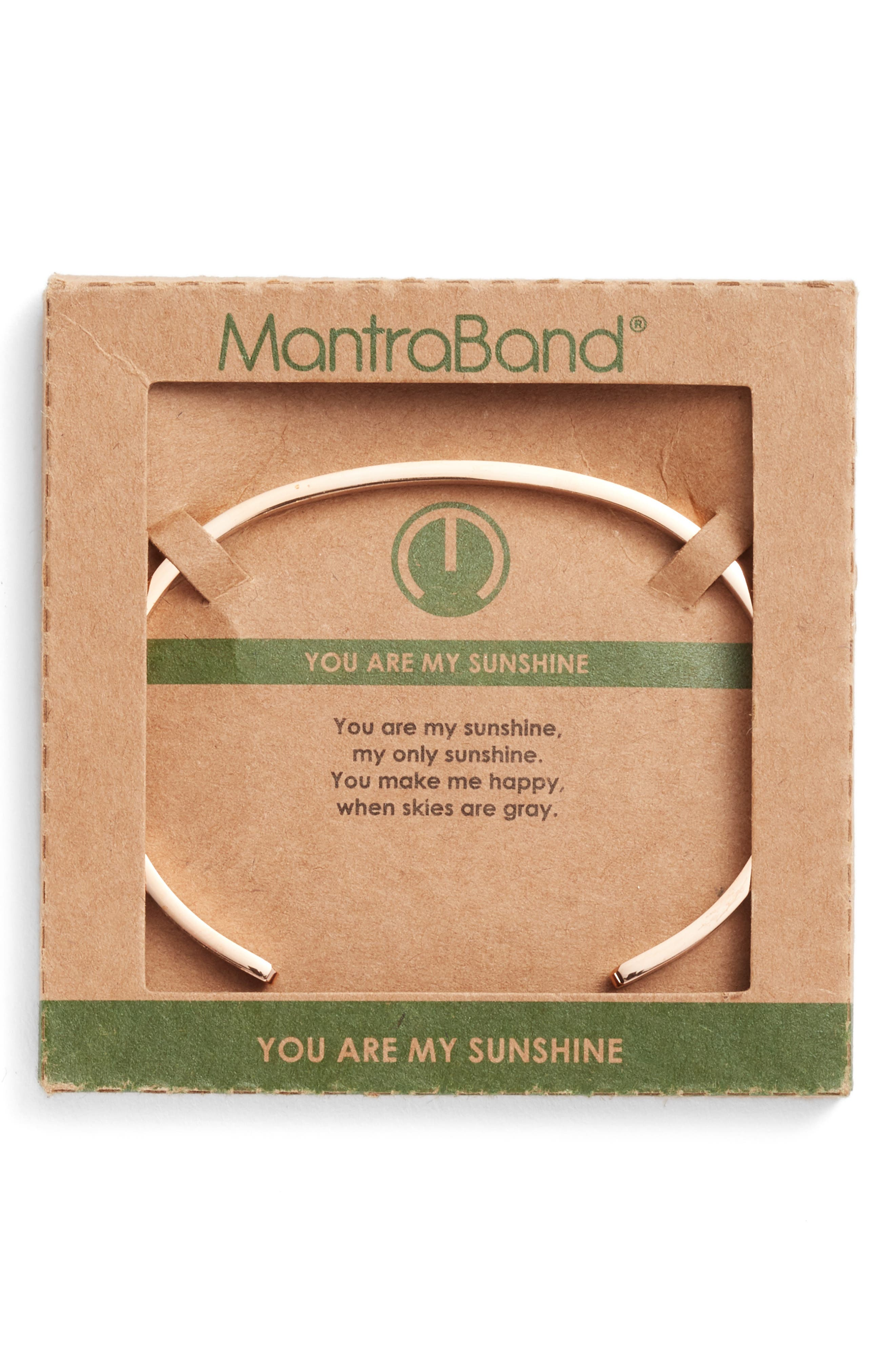 Alternate Image 2  - MantraBand You Are My Sunshine Engraved Cuff