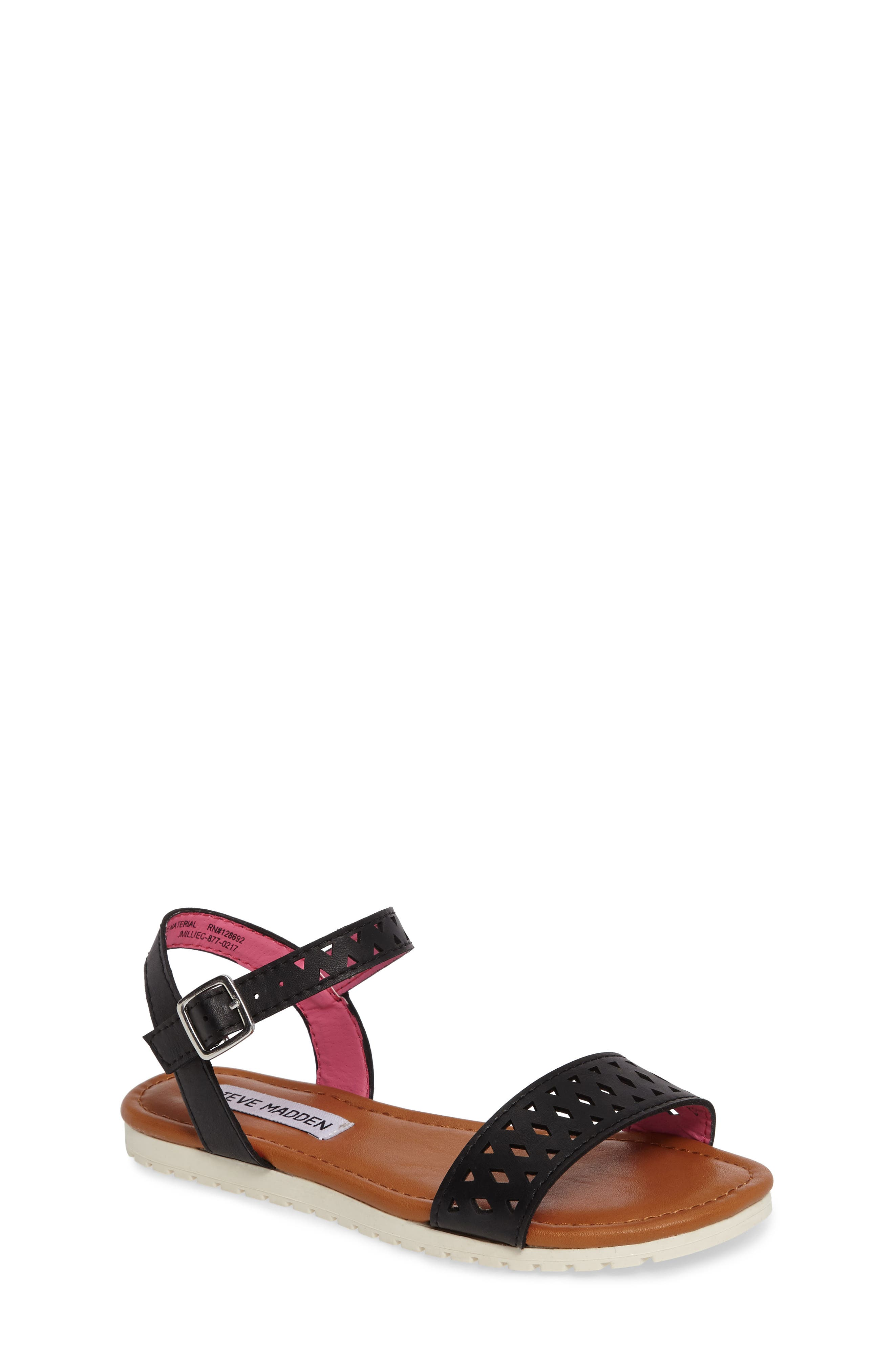 Steve Madden Millie Perforated Sandal (Toddler, Little Kid & Big Kid)