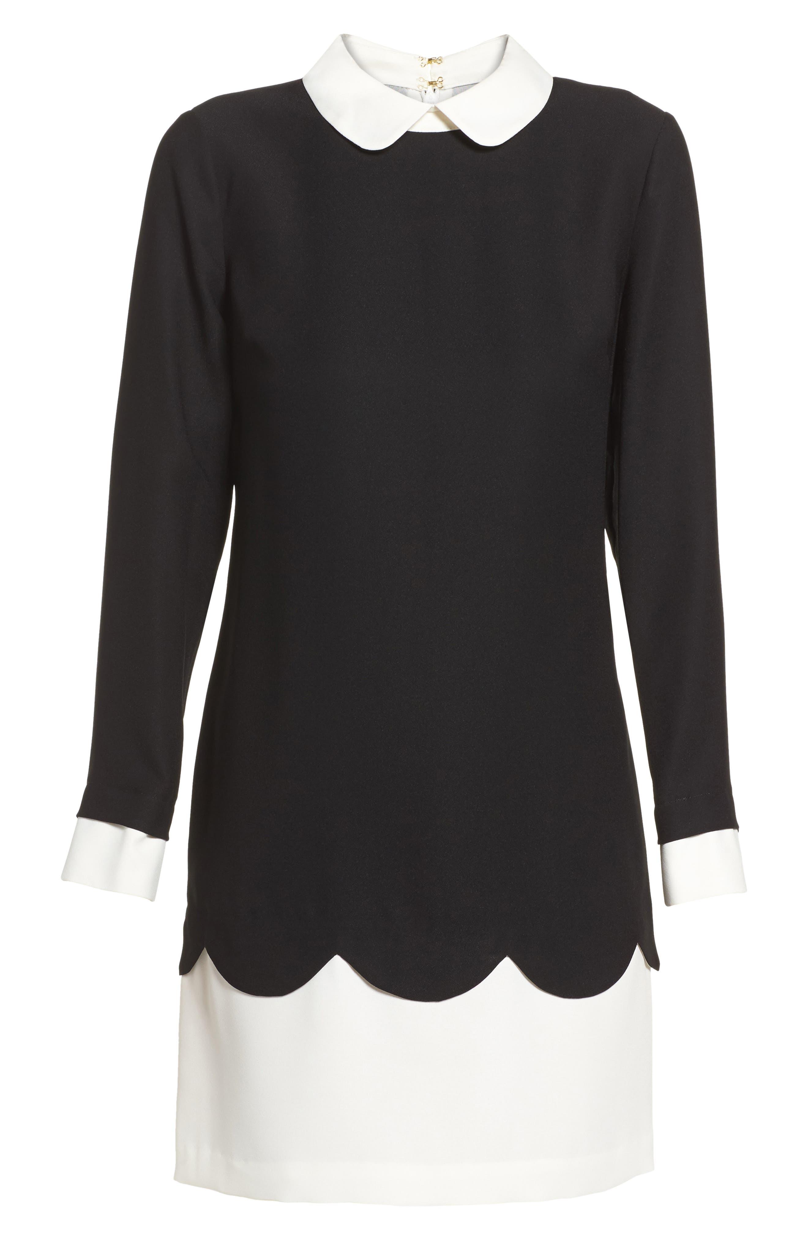 Alternate Image 6  - Cece Jada Scallop Shirtdress (Regular & Petite)