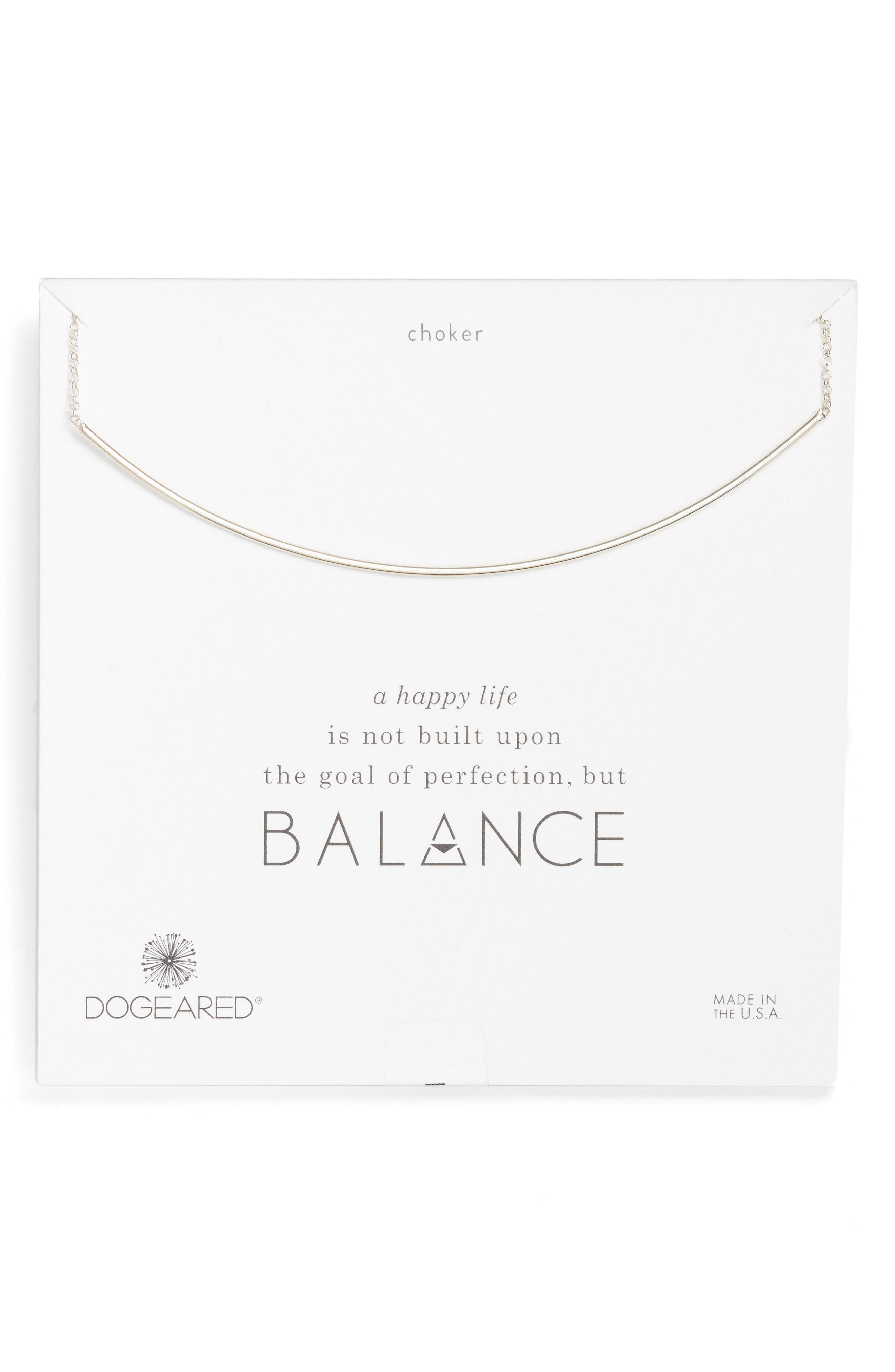 Dogeared Balance Bar Choker Necklace