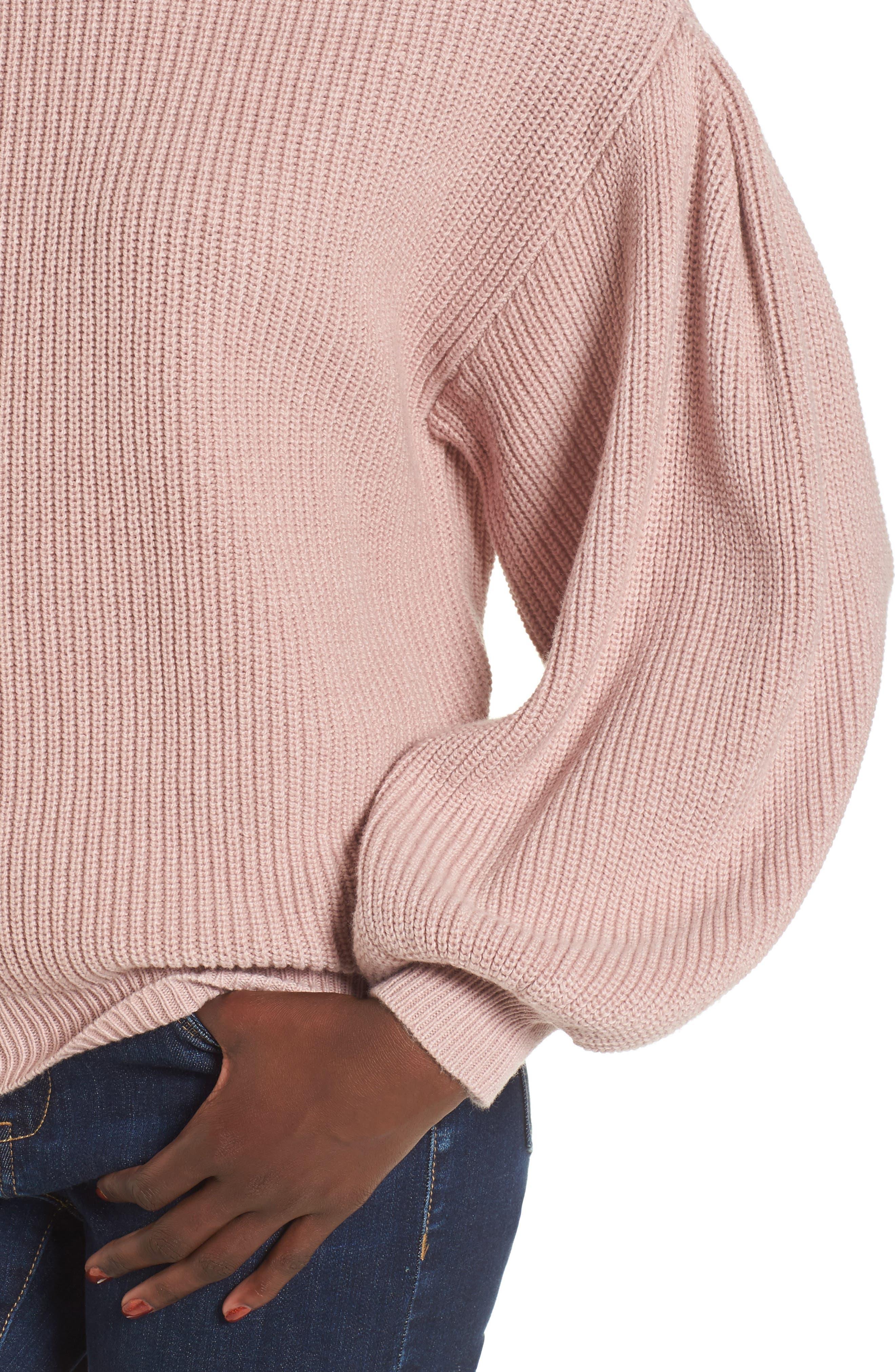 Alternate Image 4  - Leith Blouson Sleeve Sweater