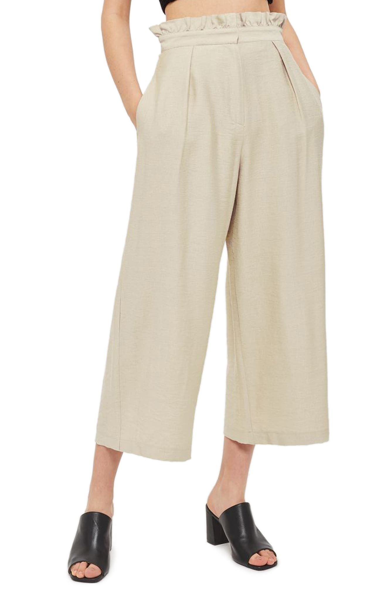 Alternate Image 1 Selected - Topshop Ruffle Waist Trousers