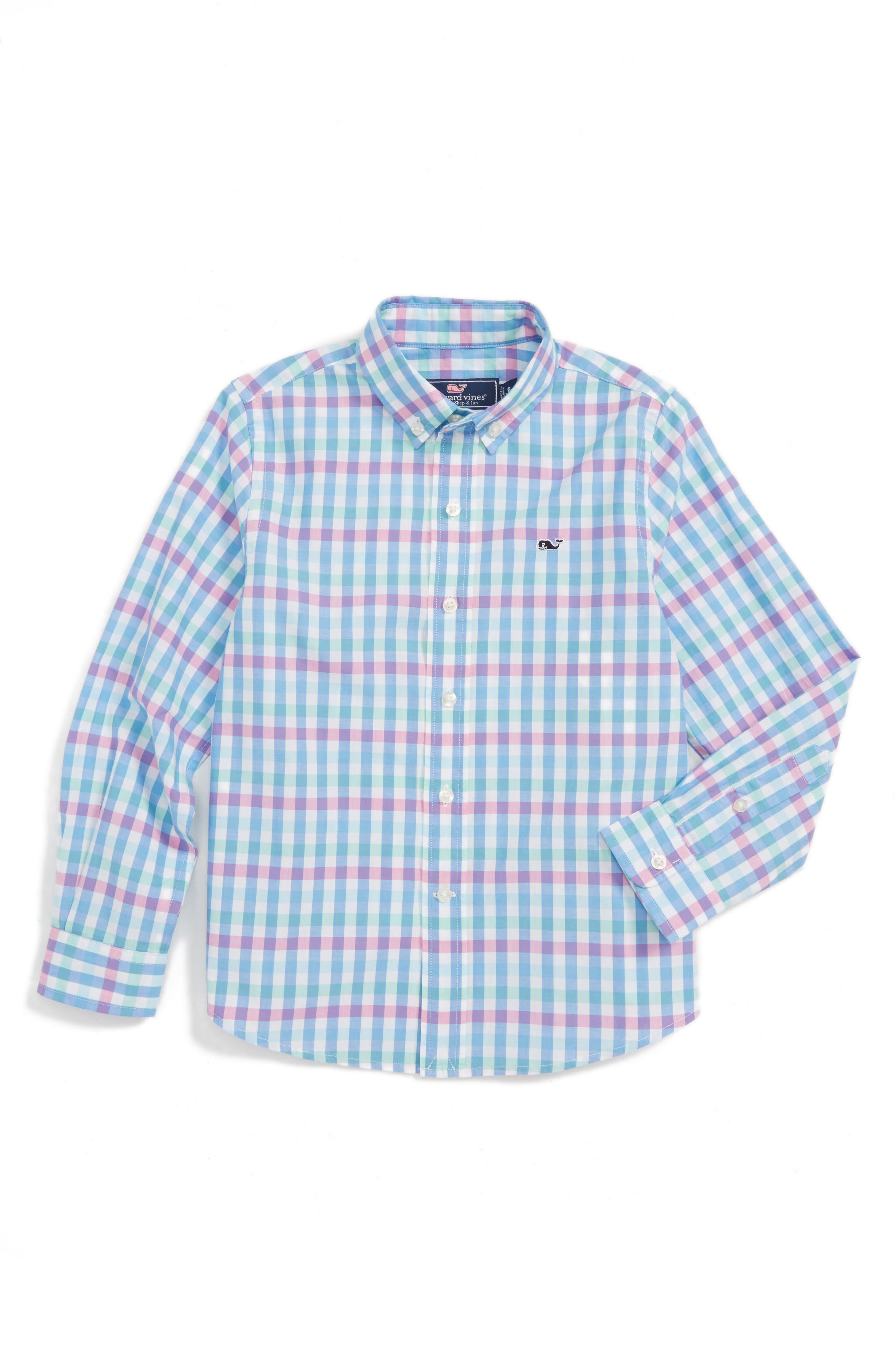 Vineyard Vines Crystal Reef Check Whale Shirt (Toddler Boys & Little Boys)