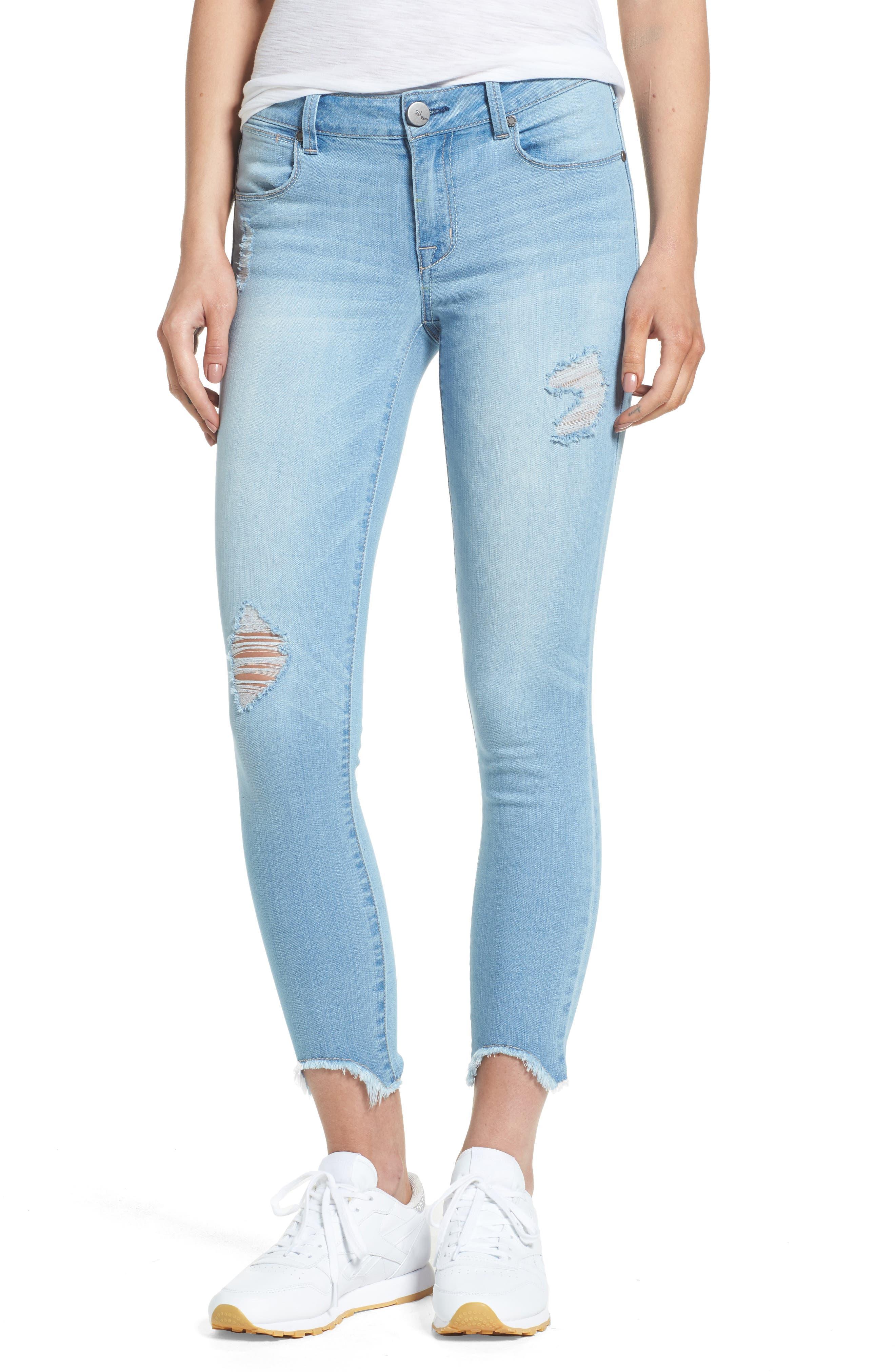 1822 Denim Raw Edge Skinny Jeans (Nirvana)