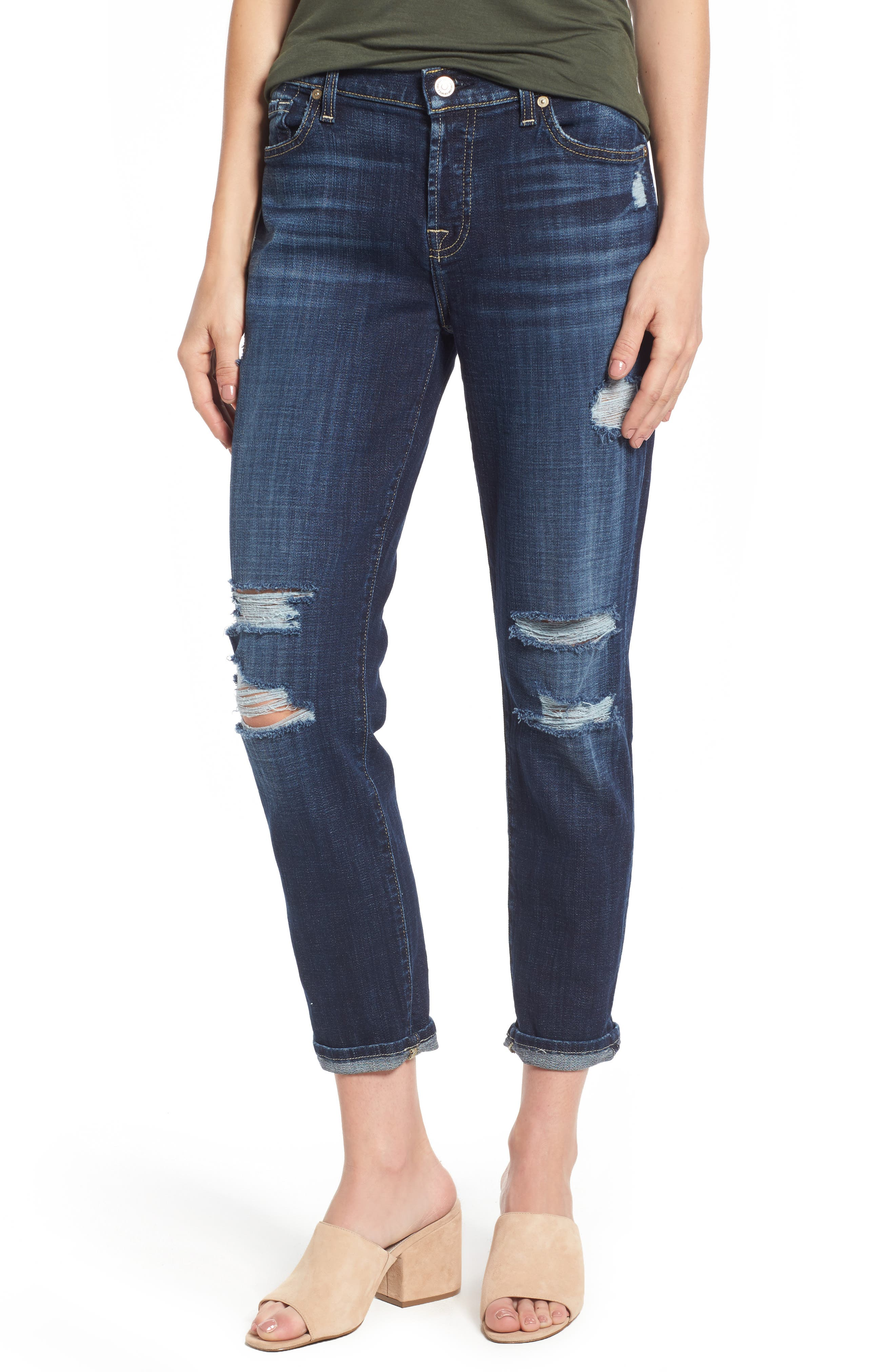 7 For All Mankind® Josefina Boyfriend Jeans (Majestic Broken Twill)