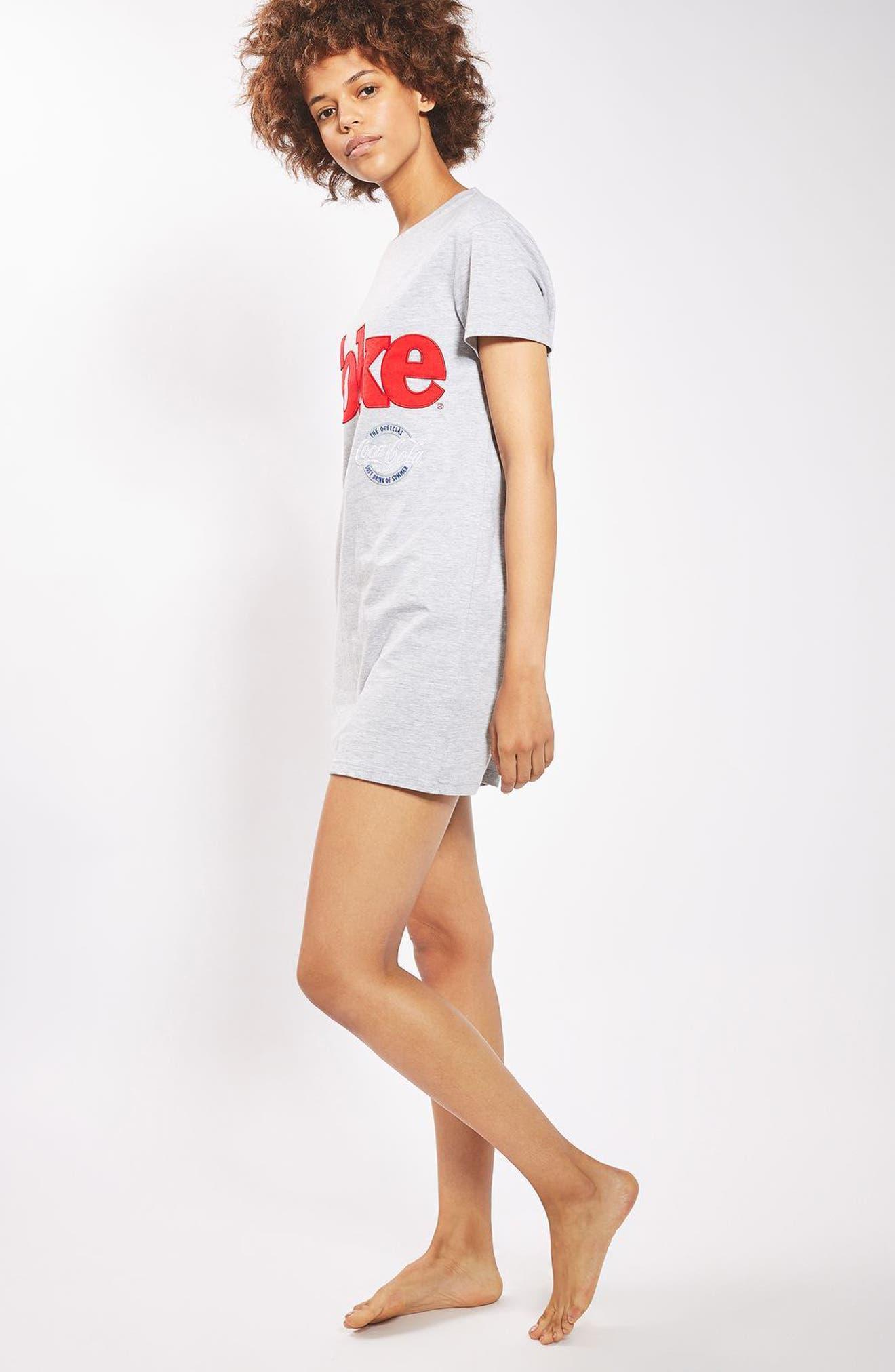 Alternate Image 3  - Topshop Coca Cola® Sleep T-Shirt