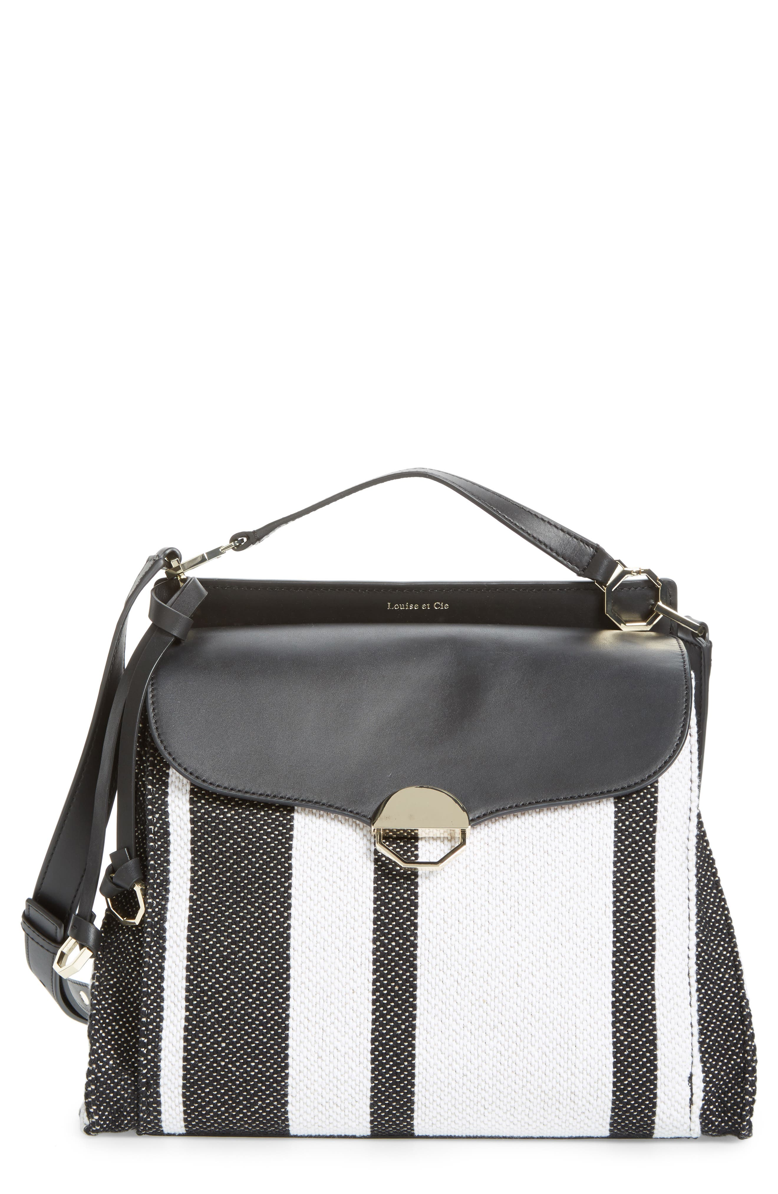 Louise et Cie Large Sonye Leather Top Handle Crossbody Bag