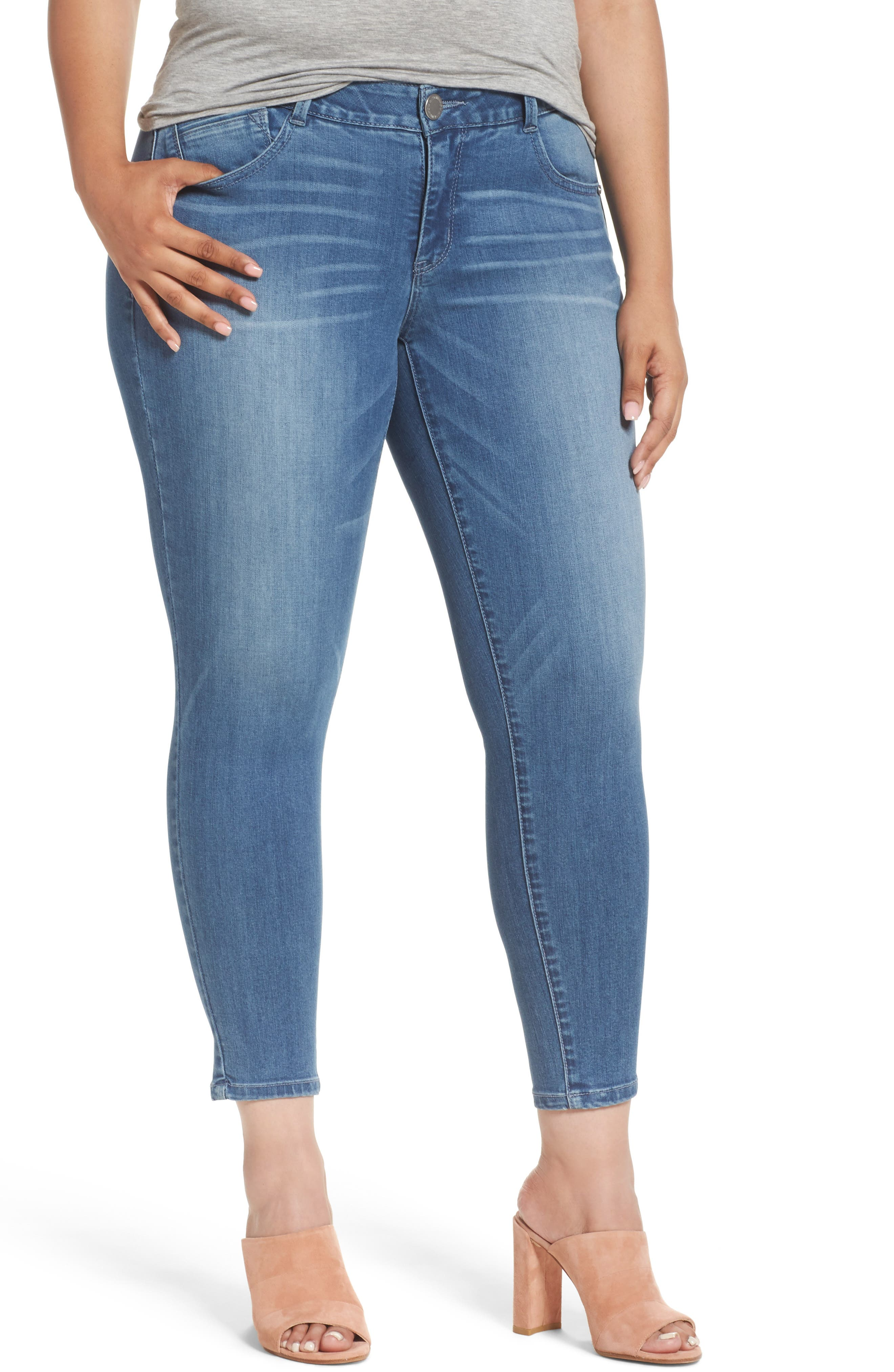 Wit & Wisdom Ab-solution Ankle Skinny Jeans (Plus Size) (Nordstrom Exclusive)