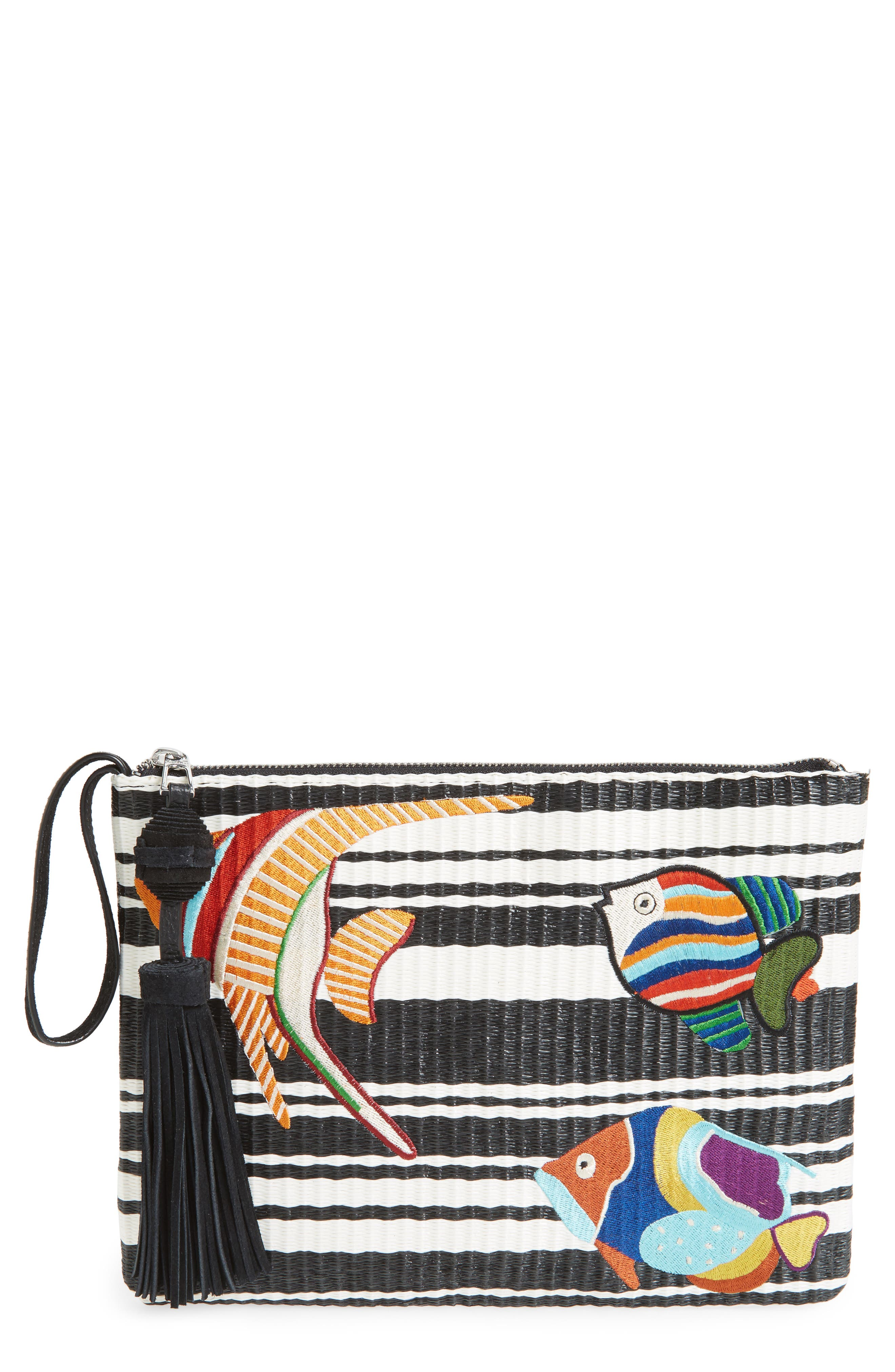 Sam Edelman Synthia Straw Clutch