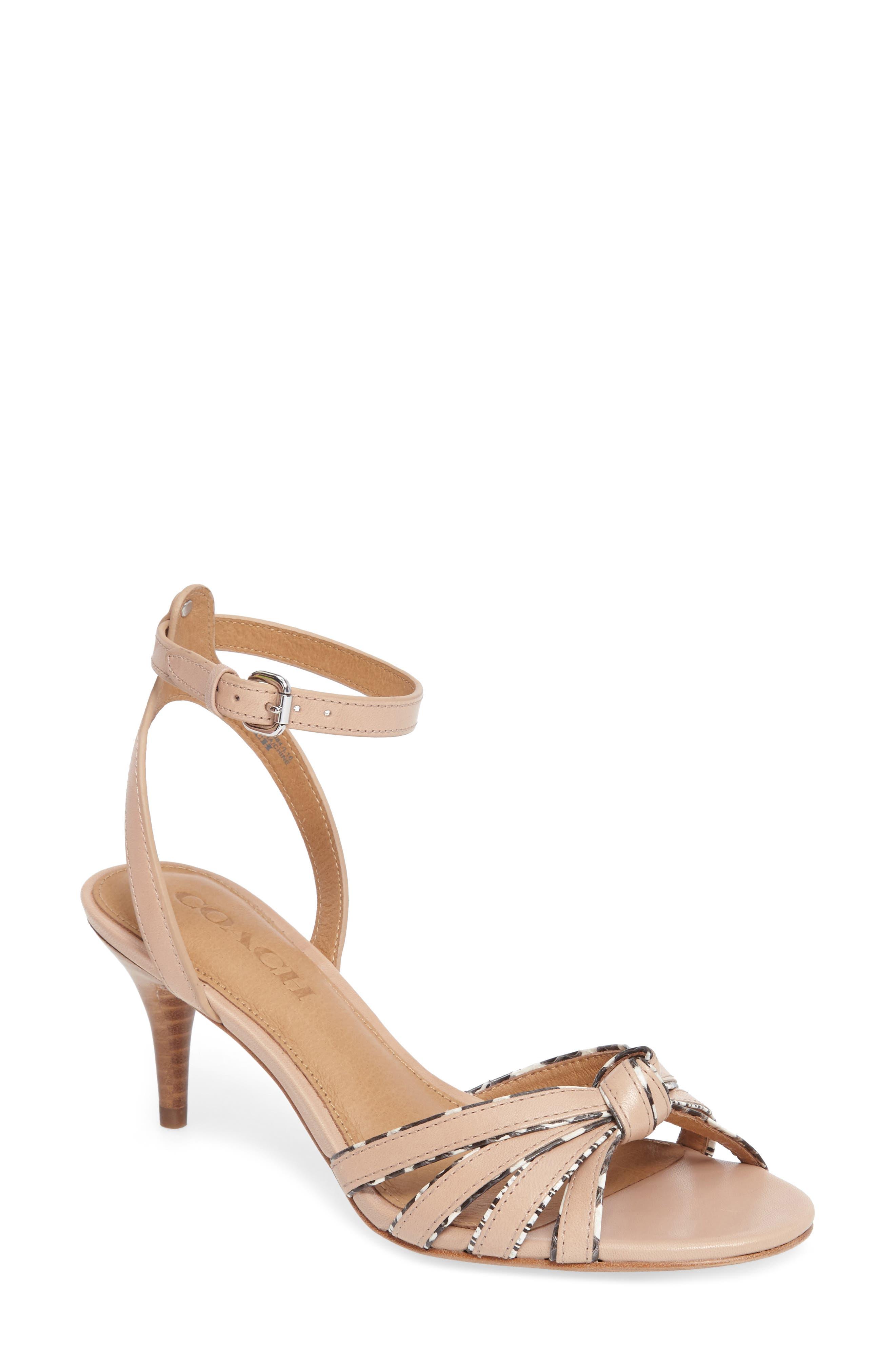 COACH Meg Genuine Snakeskin Sandal (Women)