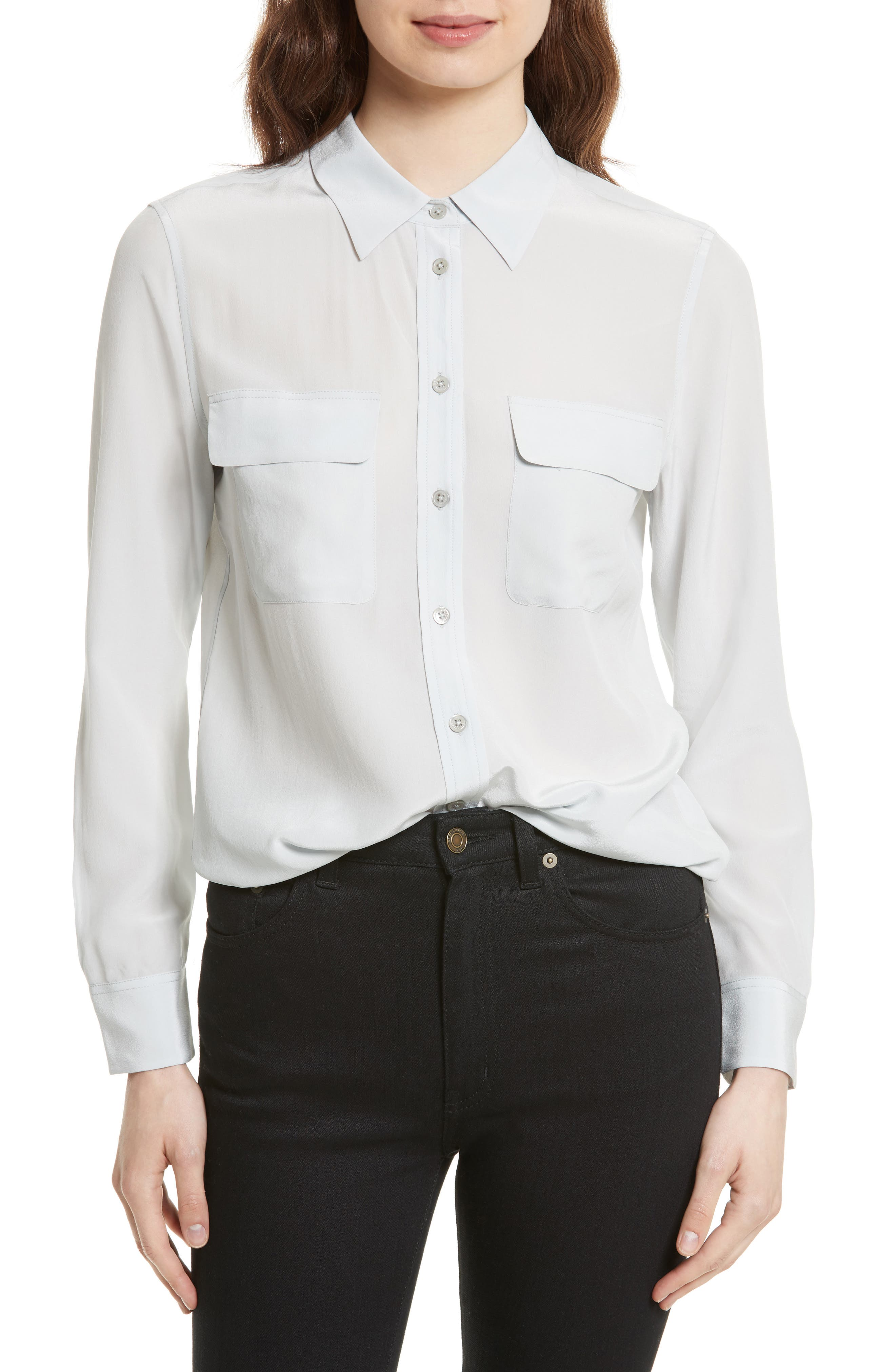 Alternate Image 1 Selected - Equipment 'Slim Signature' Silk Shirt