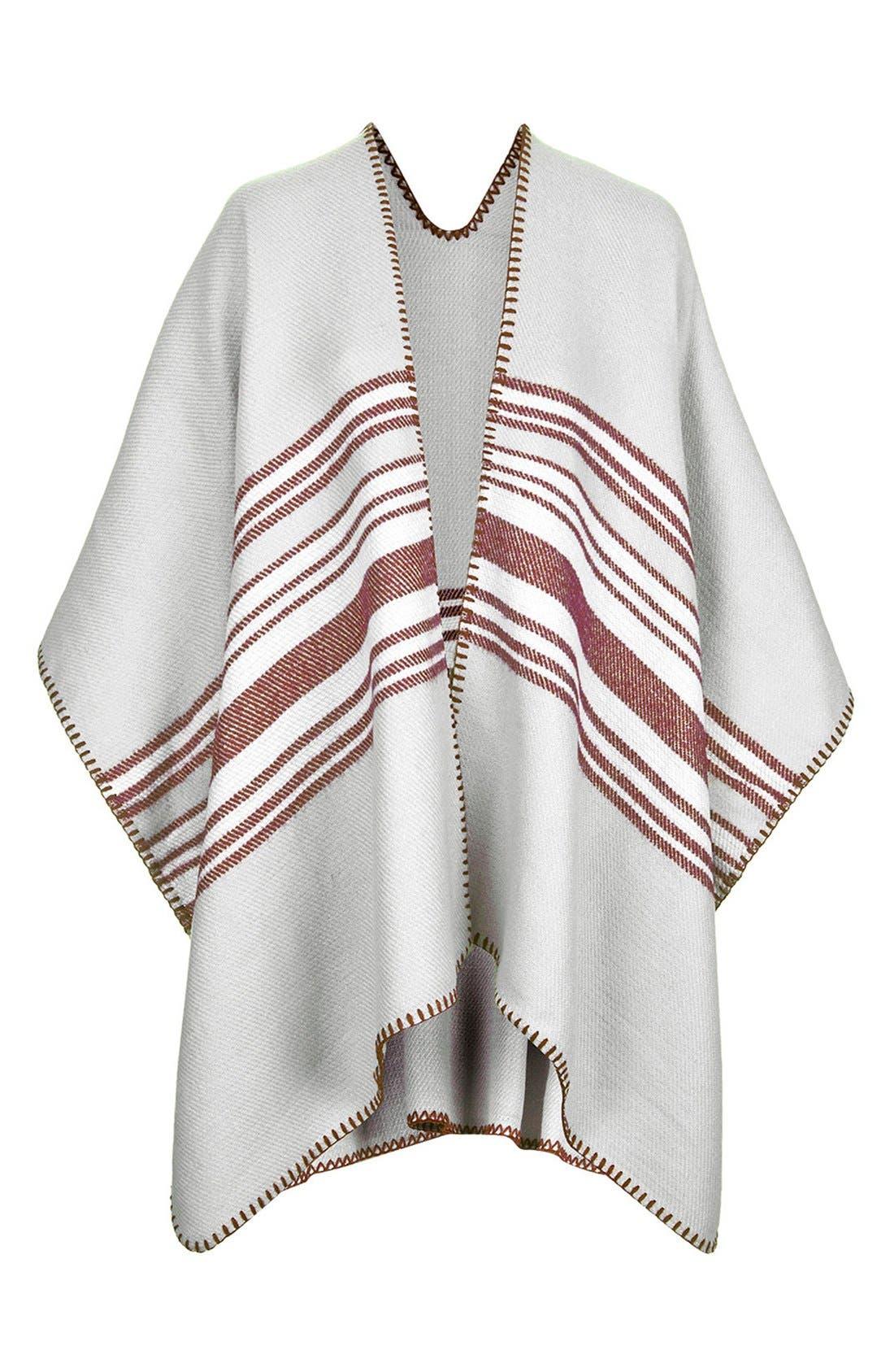 Main Image - Topshop Stripe Blanket Cape