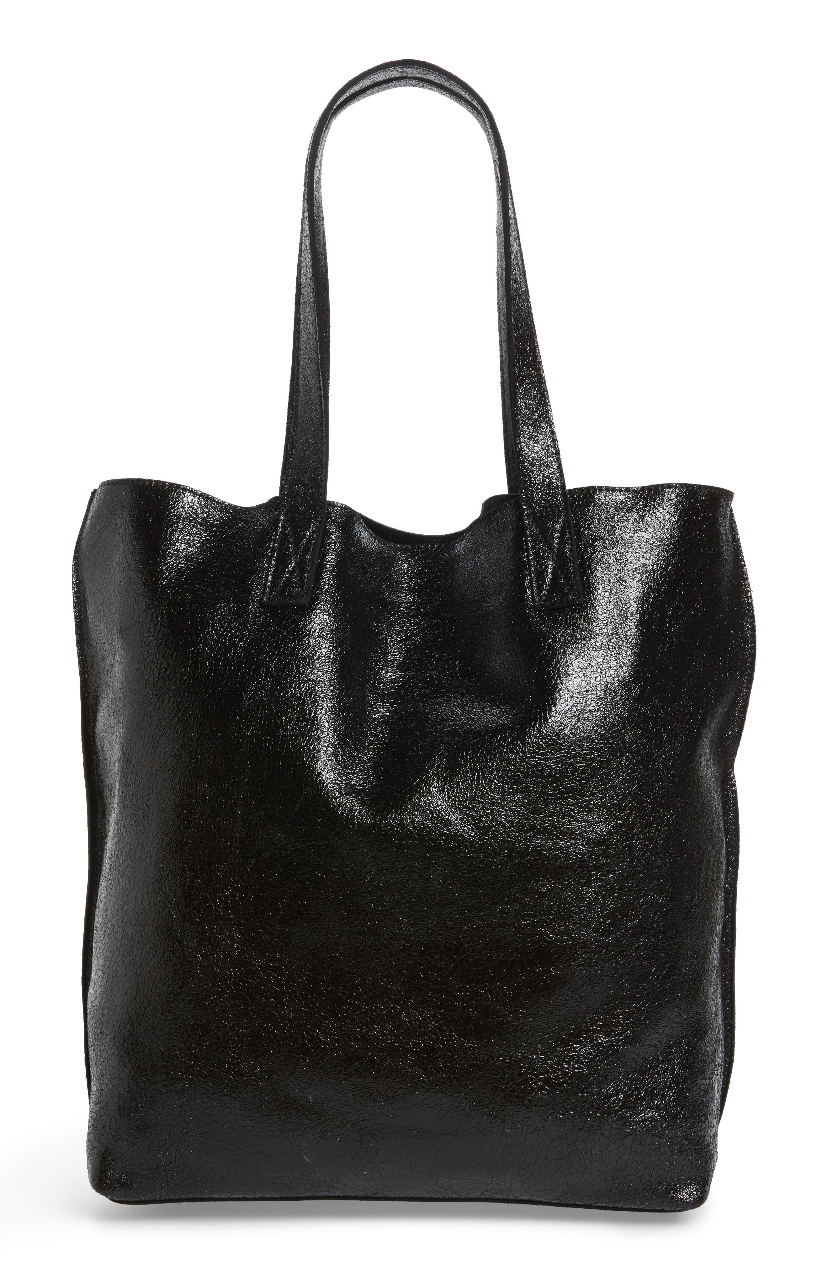 Street Level Leather Tote with Clutch