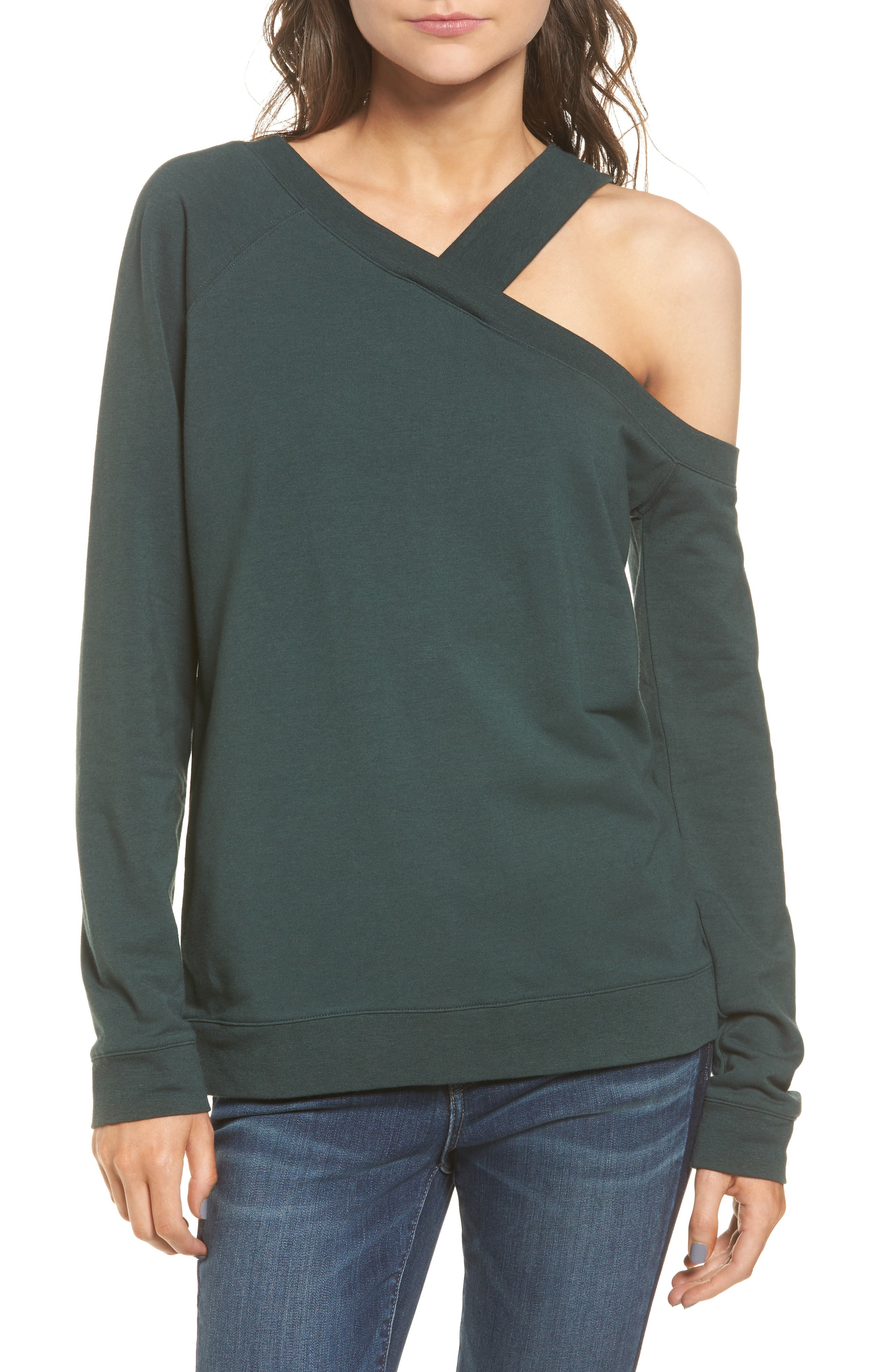 Treasure & Bond Asymmetrical Sweatshirt