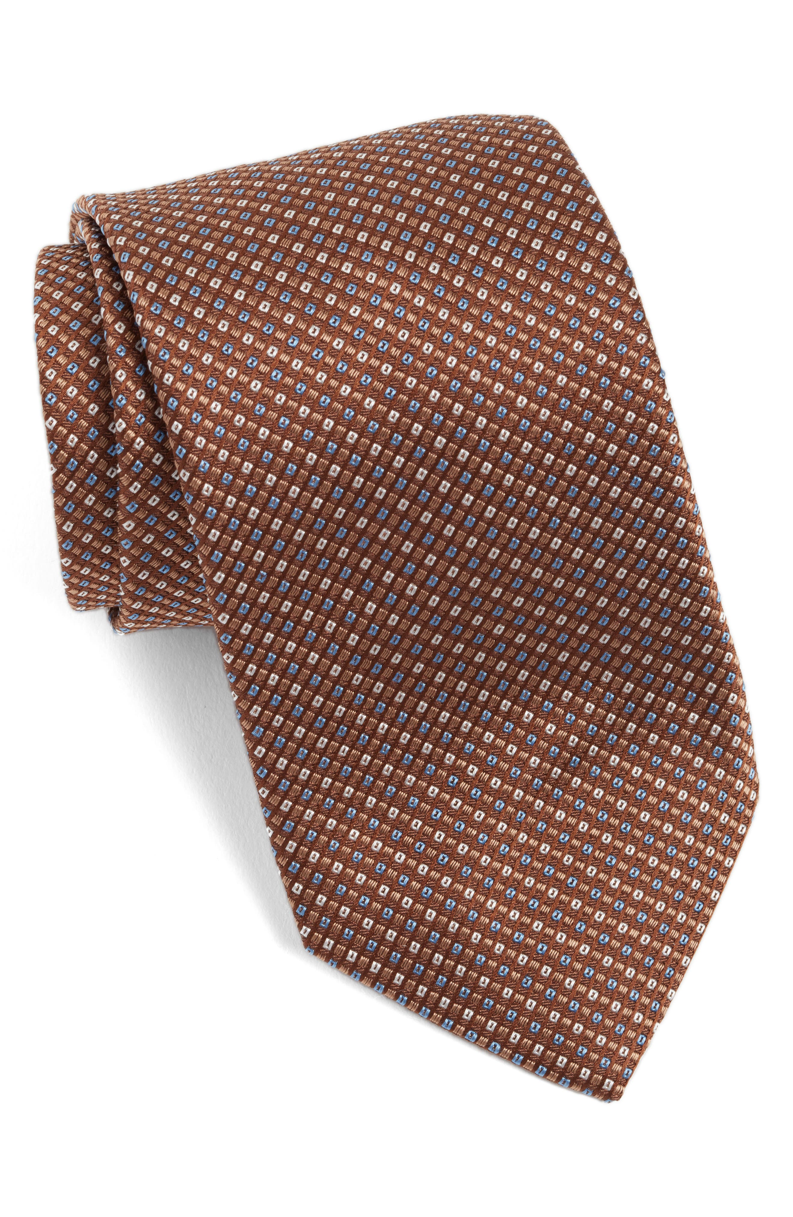 David Donahue Solid Silk Tie