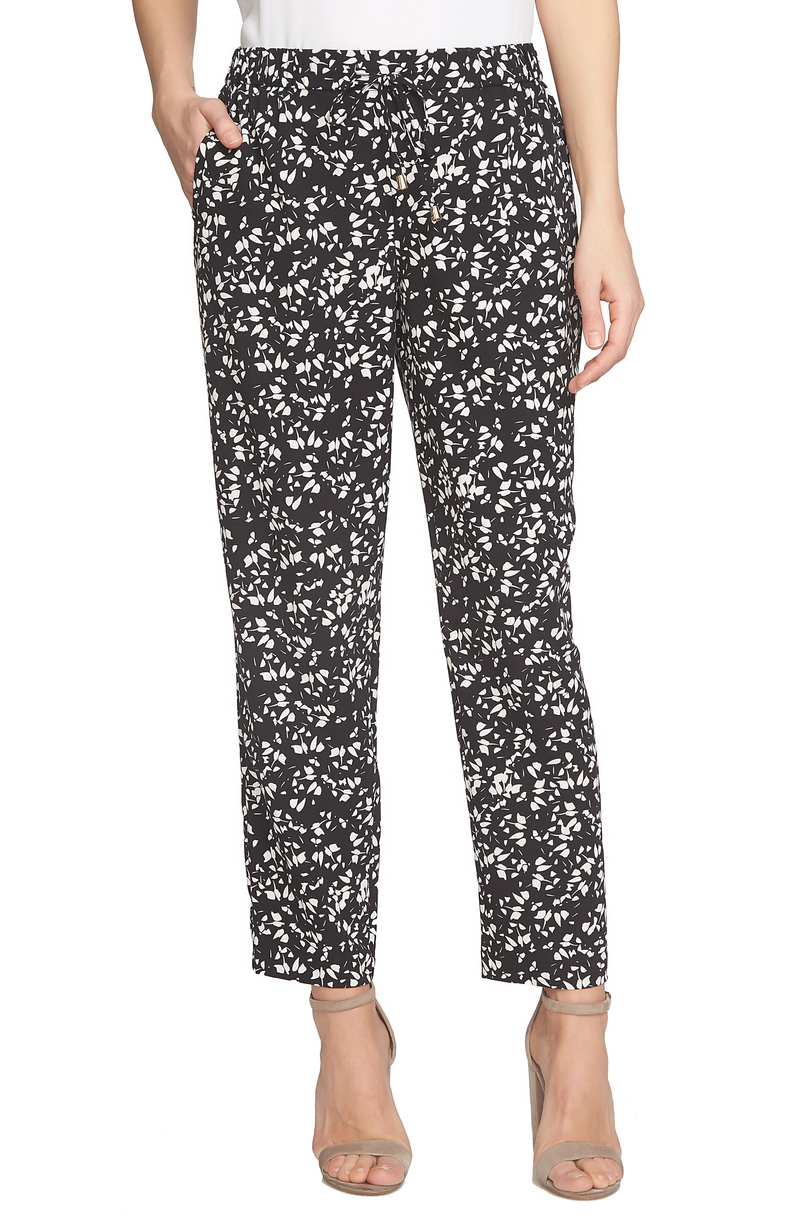 CeCe Modern Ditsy Drawstring Pants