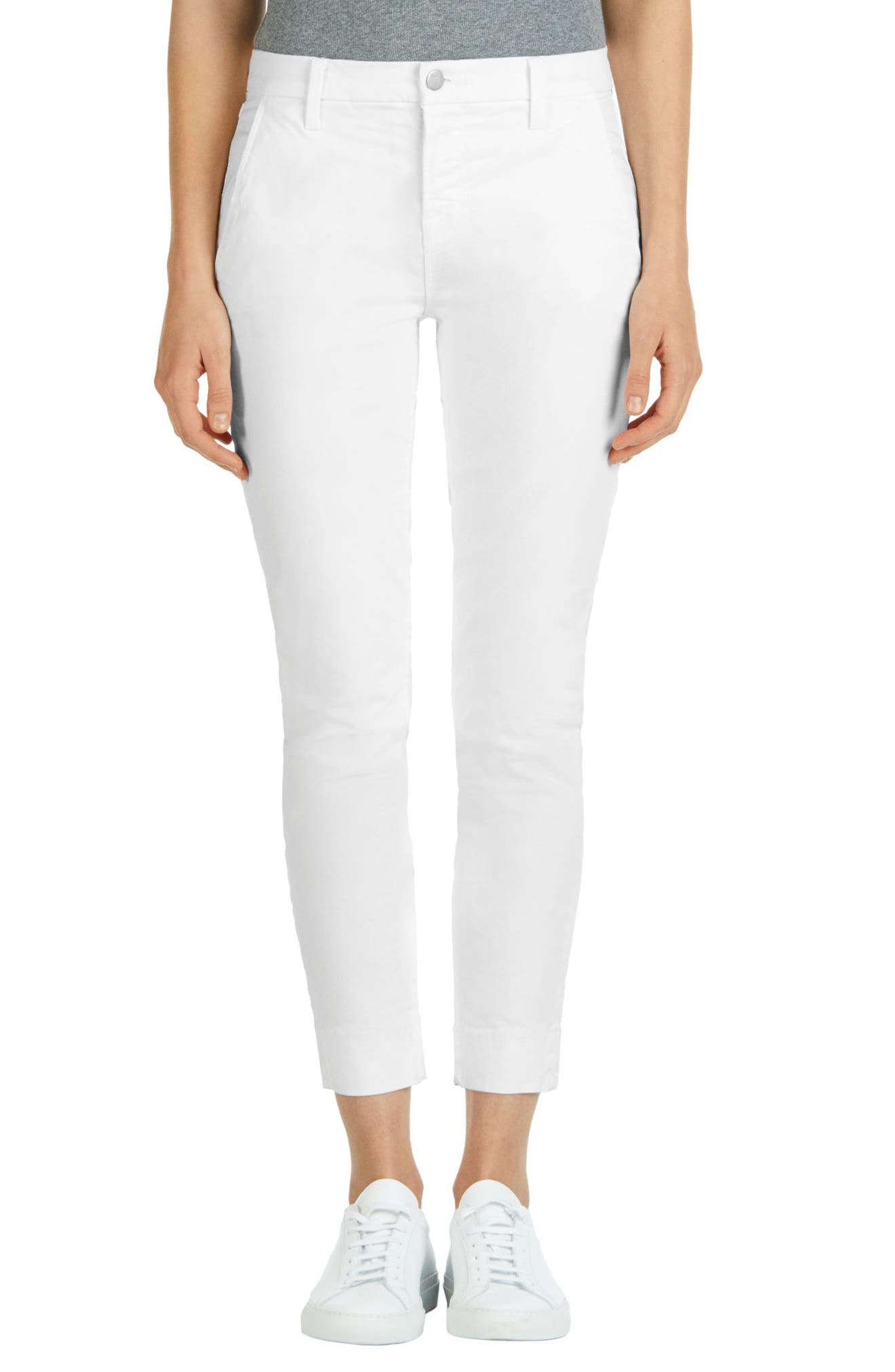 J Brand 'Josie' Tapered Leg Crop Trousers