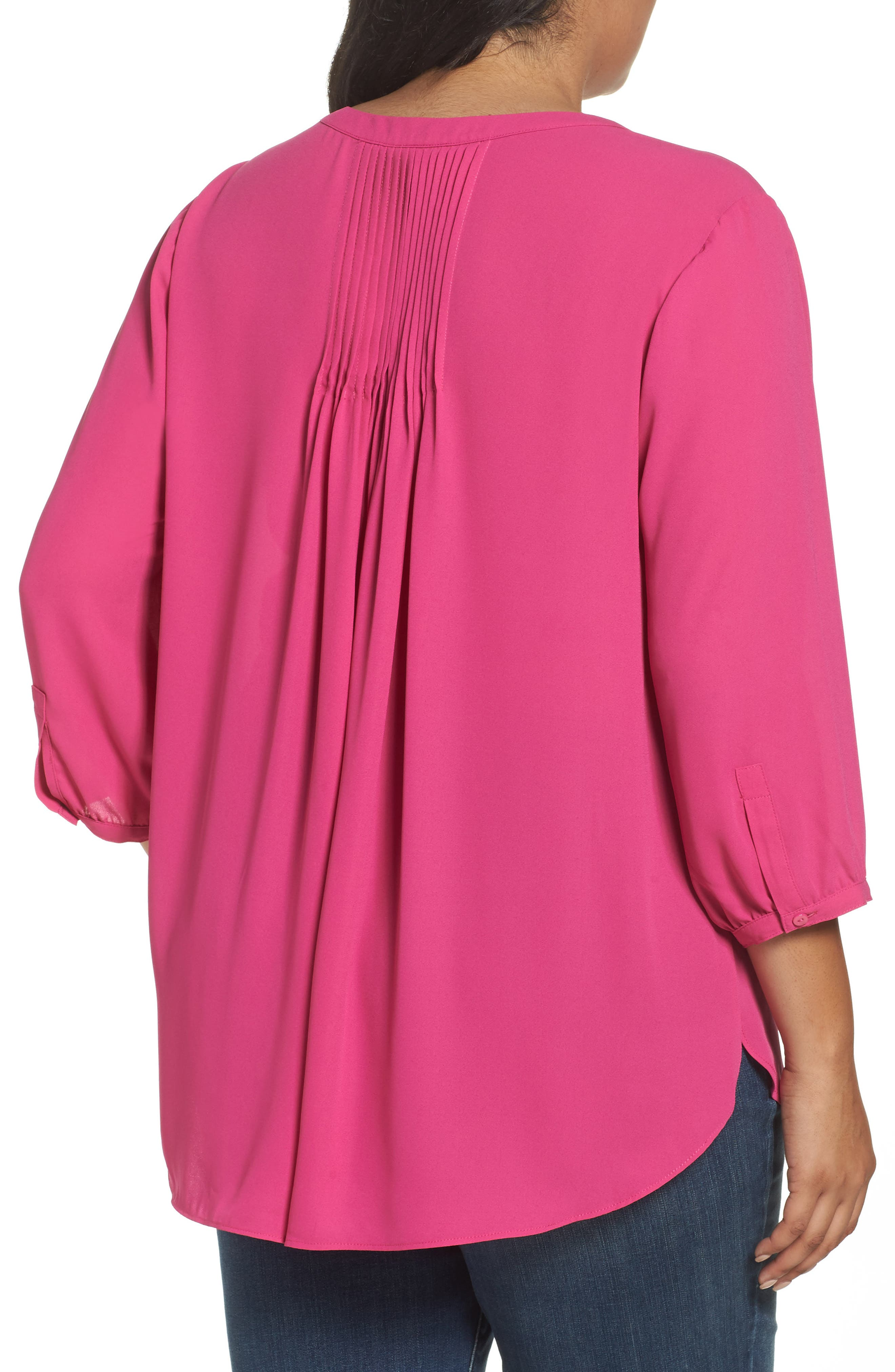 Alternate Image 2  - NYDJ High/Low Blouse (Plus Size)