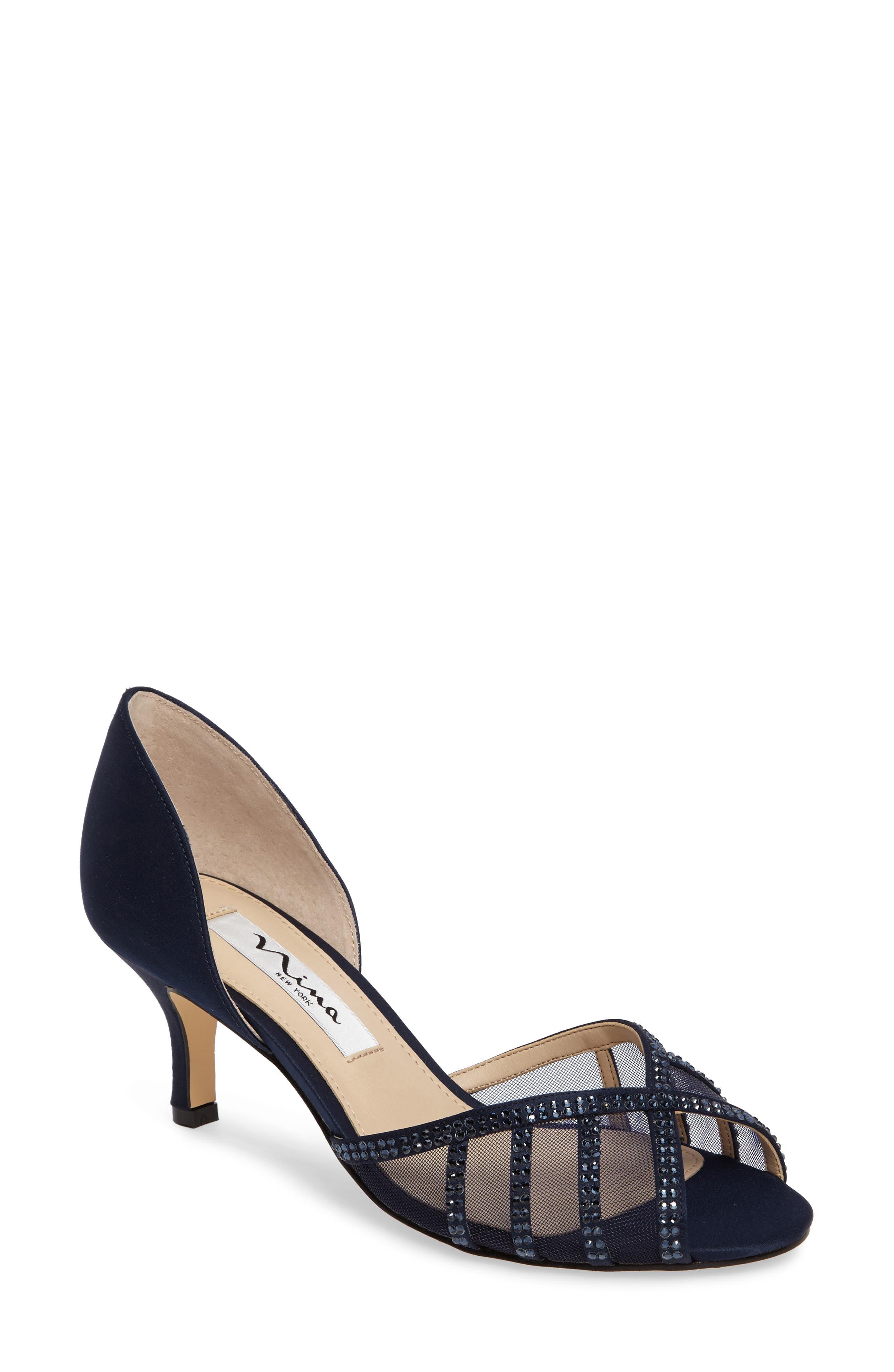 Nina Corita Embellished Mesh Sandal (Women)