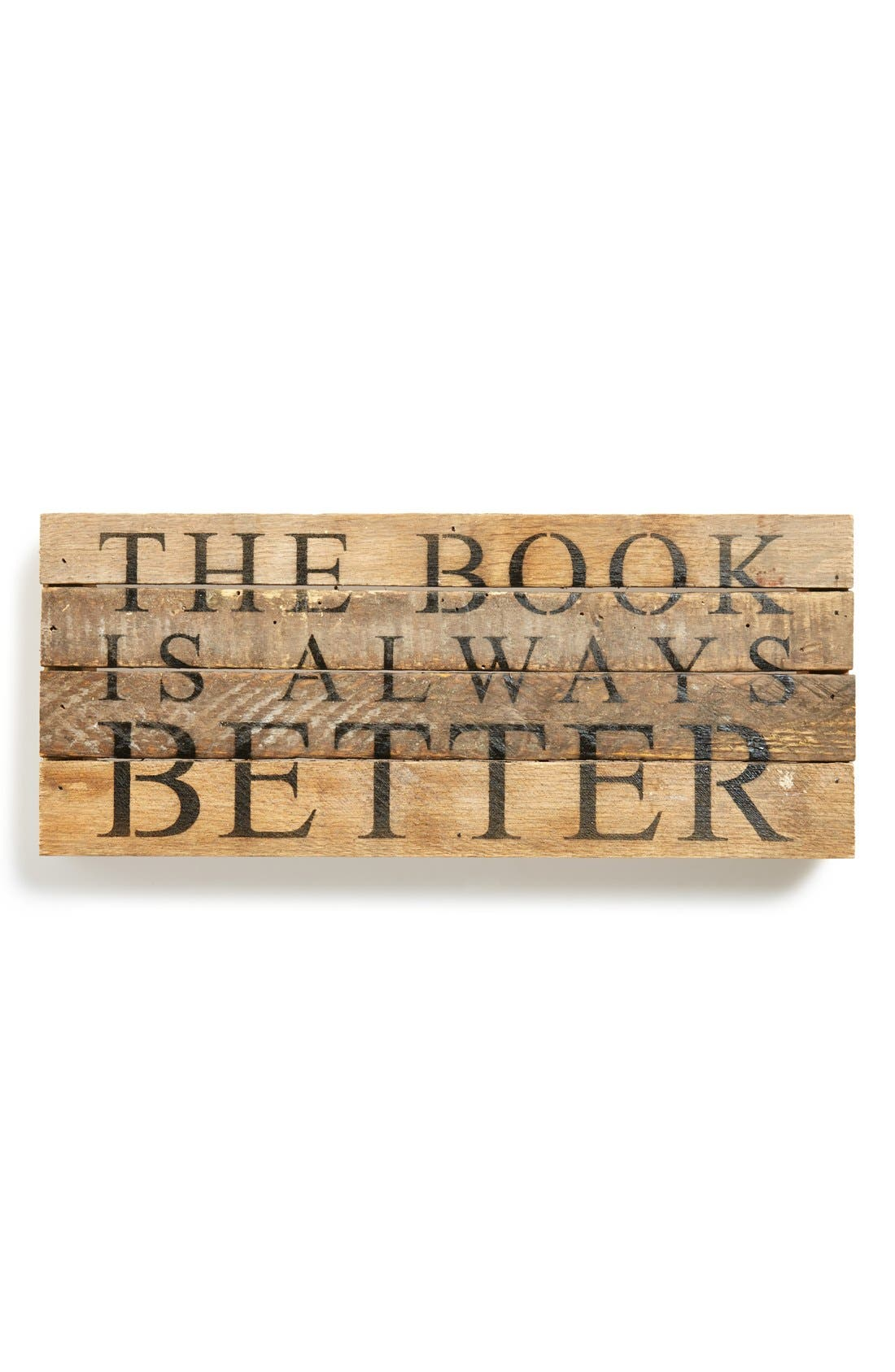 Main Image - Second Nature By Hand 'The Book Is Always Better' Repurposed Wood Wall Plaque
