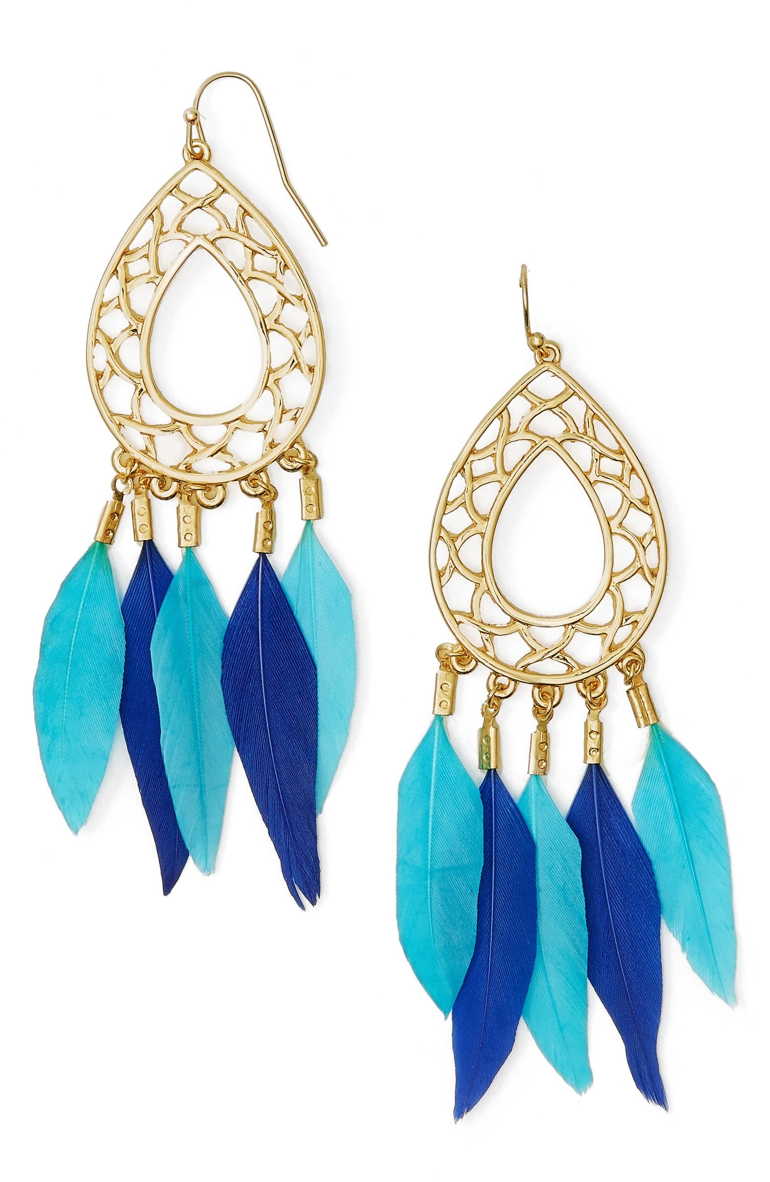 Alternate Image 1 Selected - Baublebar Feather Drop Earrings