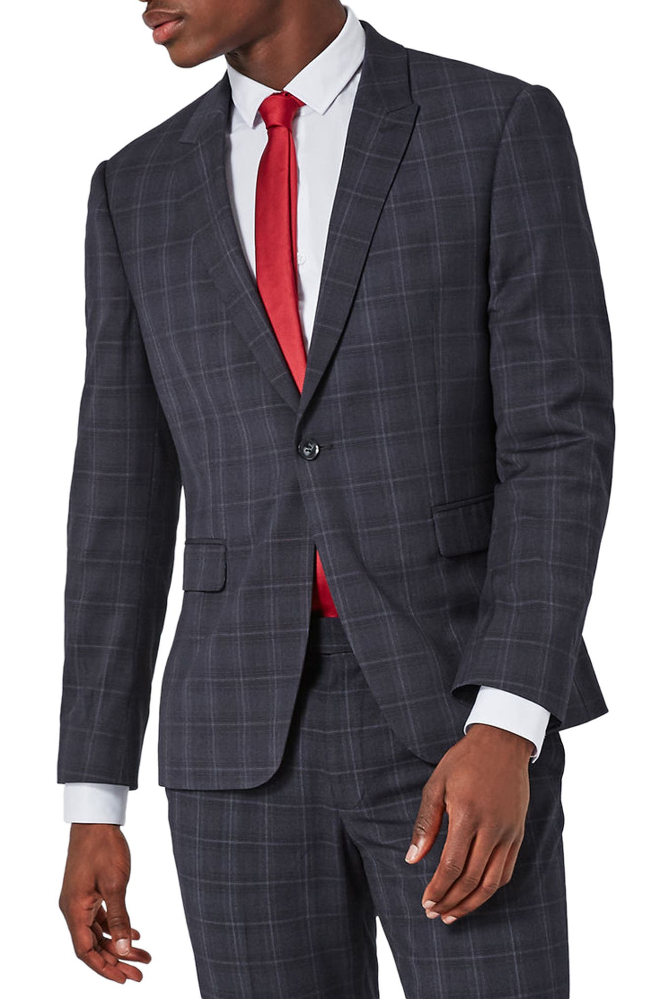 Topman Muscle Fit Suit Jacket