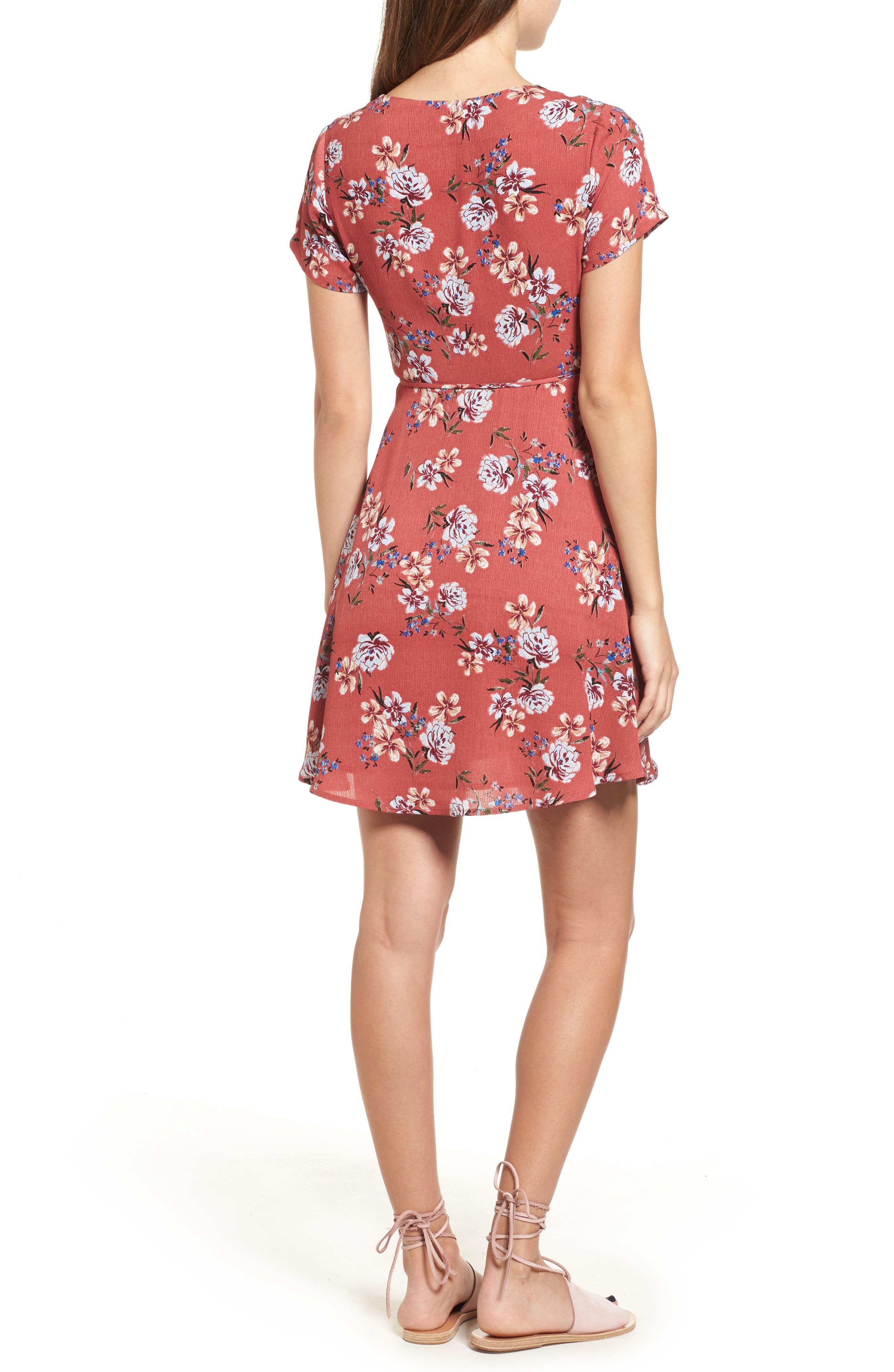 Alternate Image 2  - Lush Olivia Wrap Dress