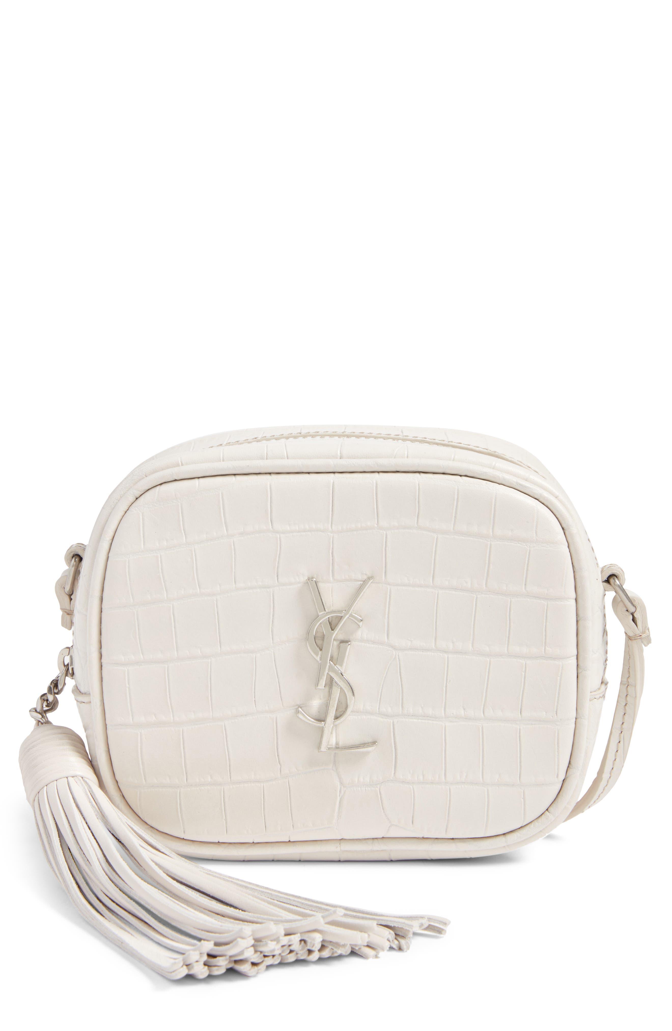 Saint Laurent Monogram Blogger Leather Crossbody Bag