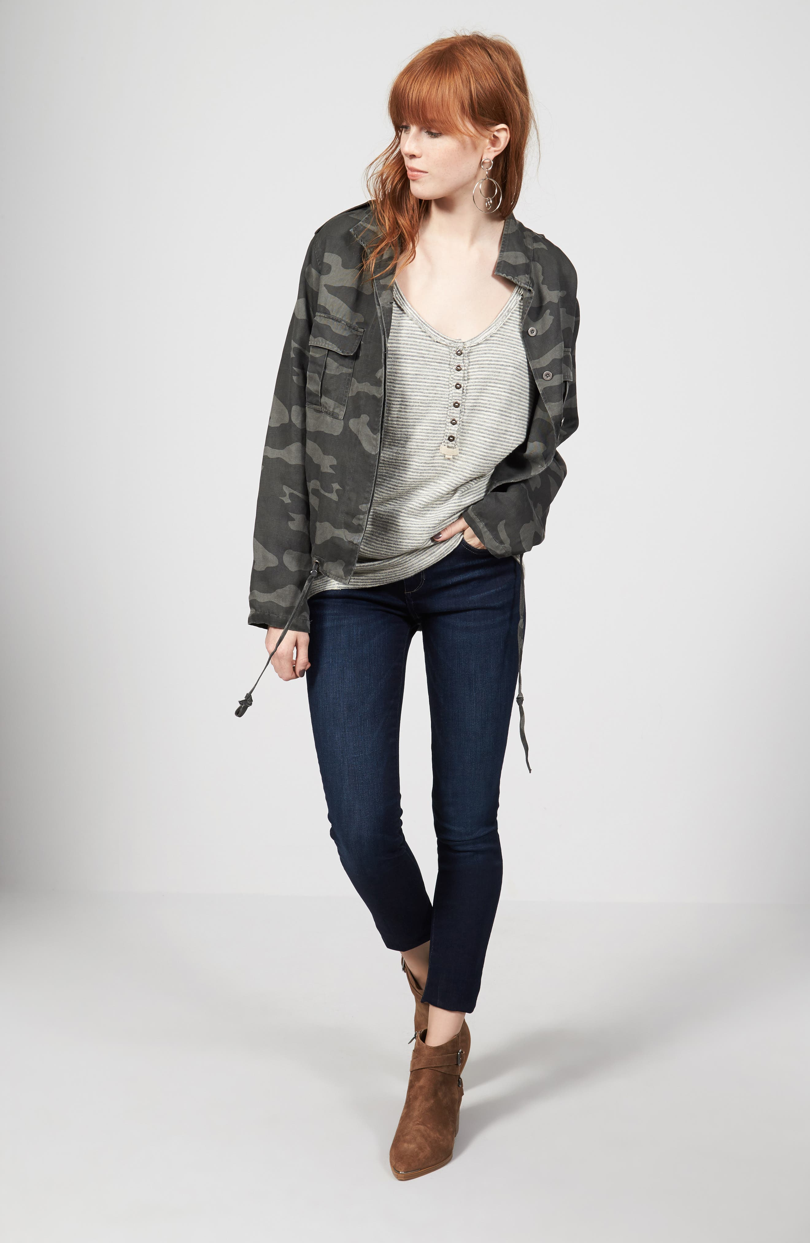 Rails Jacket, Free People Tee & DL1961 Jeans Outfit with Accessories