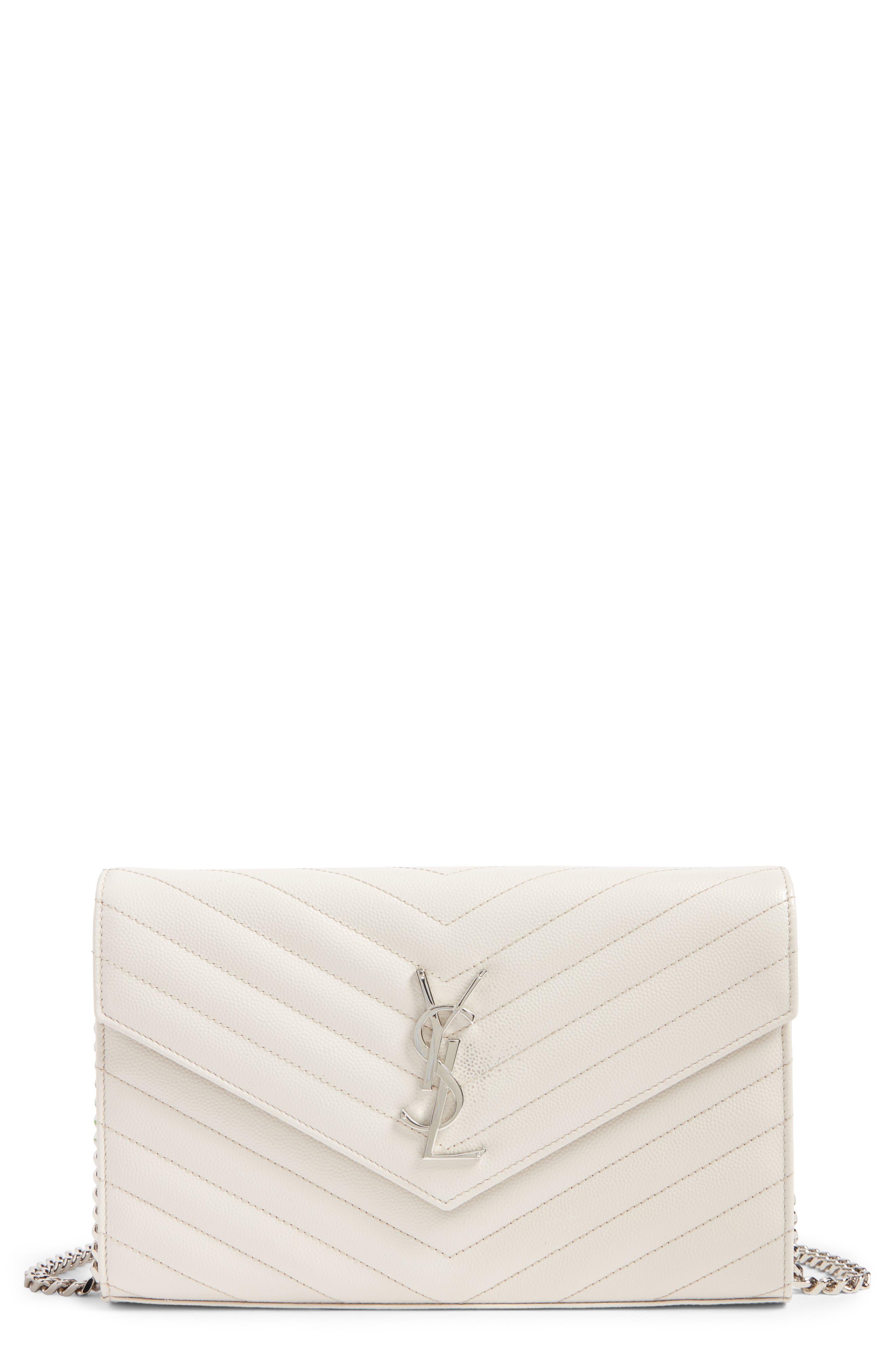 Saint Laurent 'Monogram' Wallet on a Chain