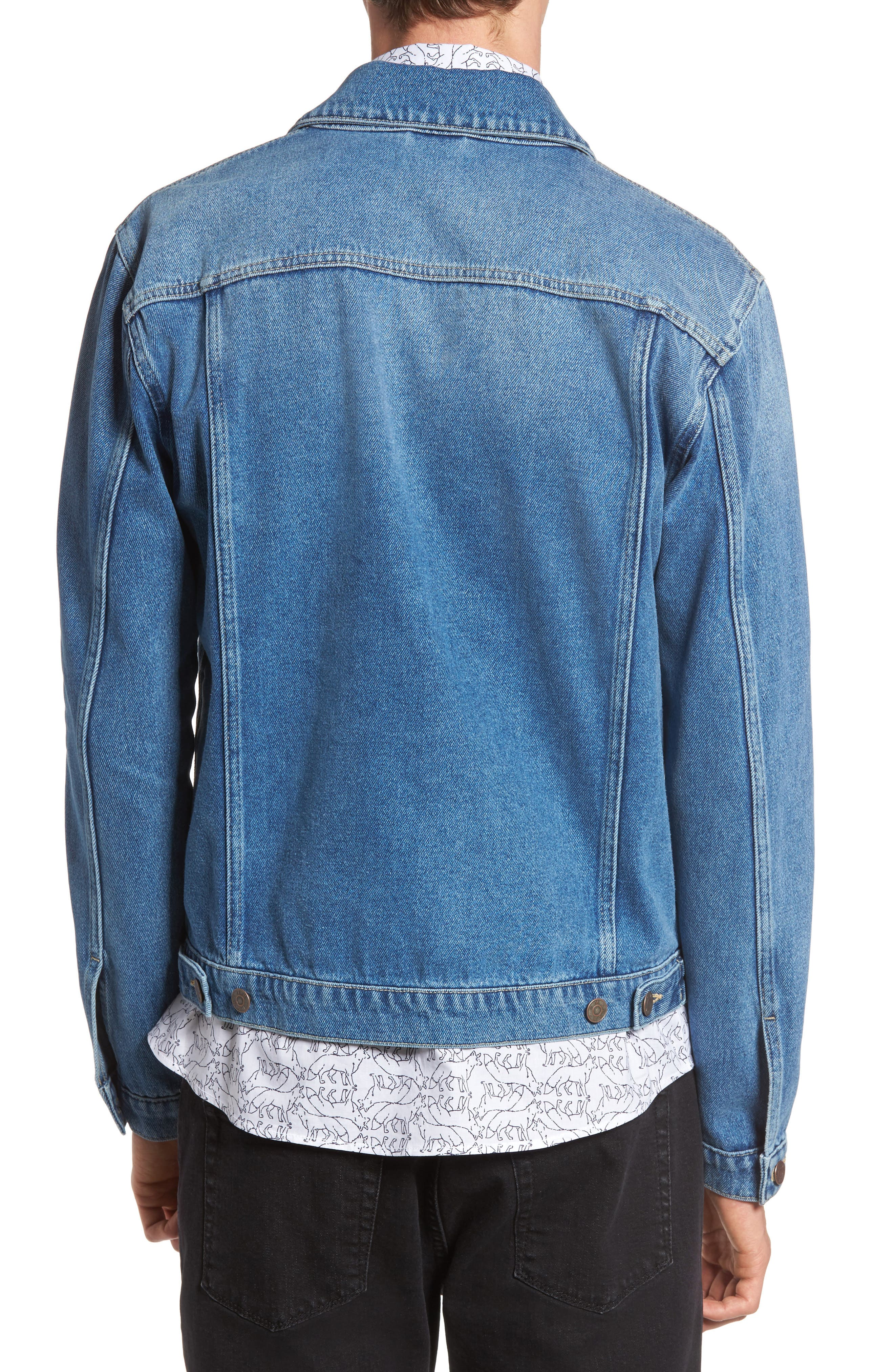 Alternate Image 3  - Topman Griffin Denim Jacket