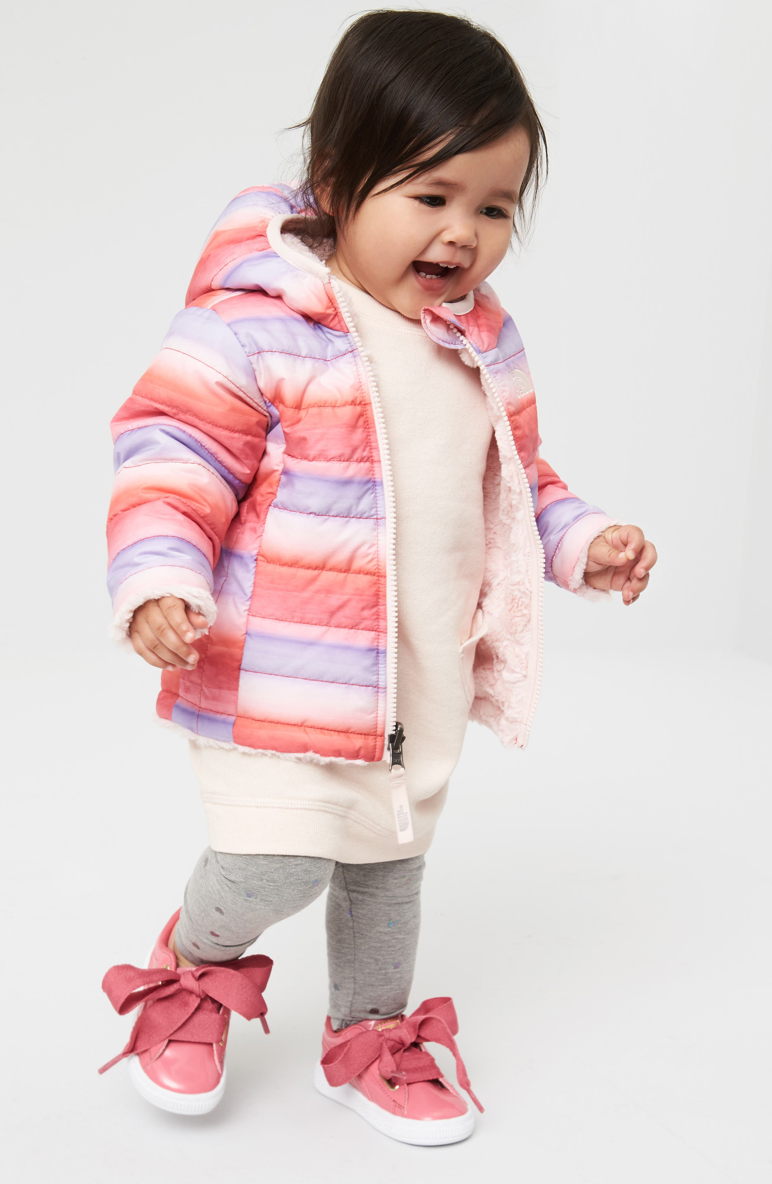 The North Face Jacket, Tucker + Tate Dress & Leggings Outfit with Accessories (Baby Girls)