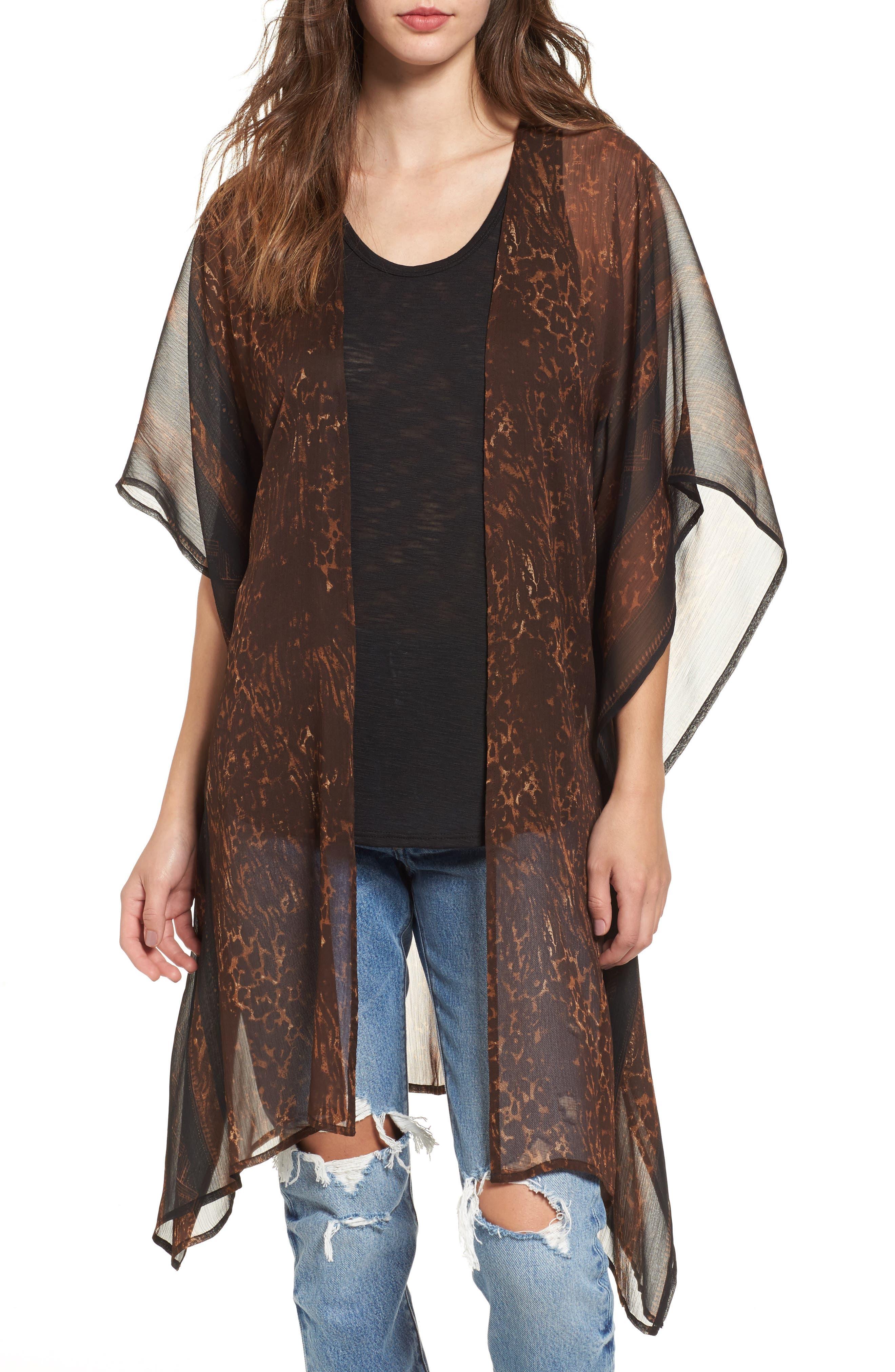 Sun & Shadow Drape Kimono
