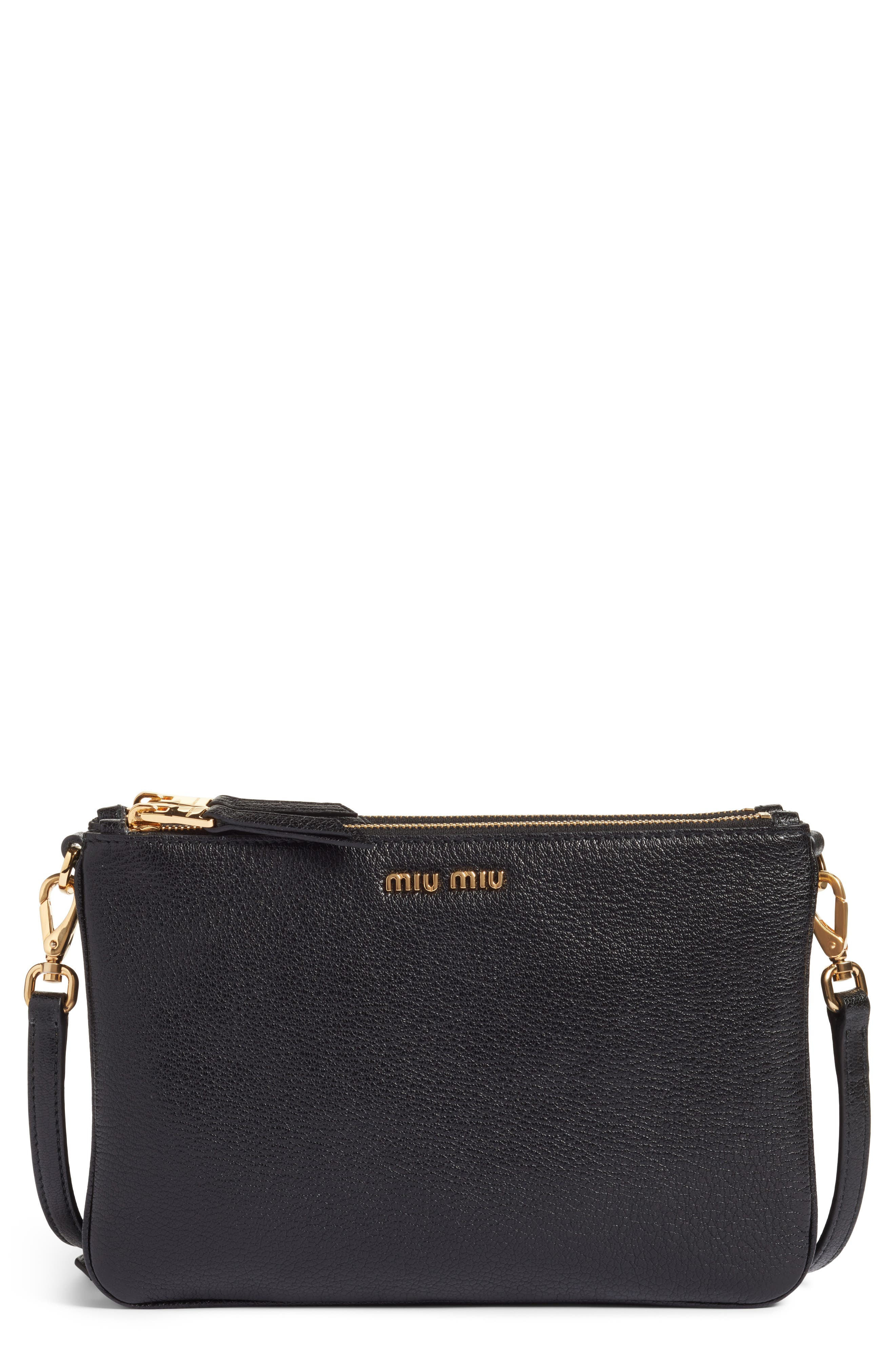 Miu Miu Madras Leather Crossbody Bag
