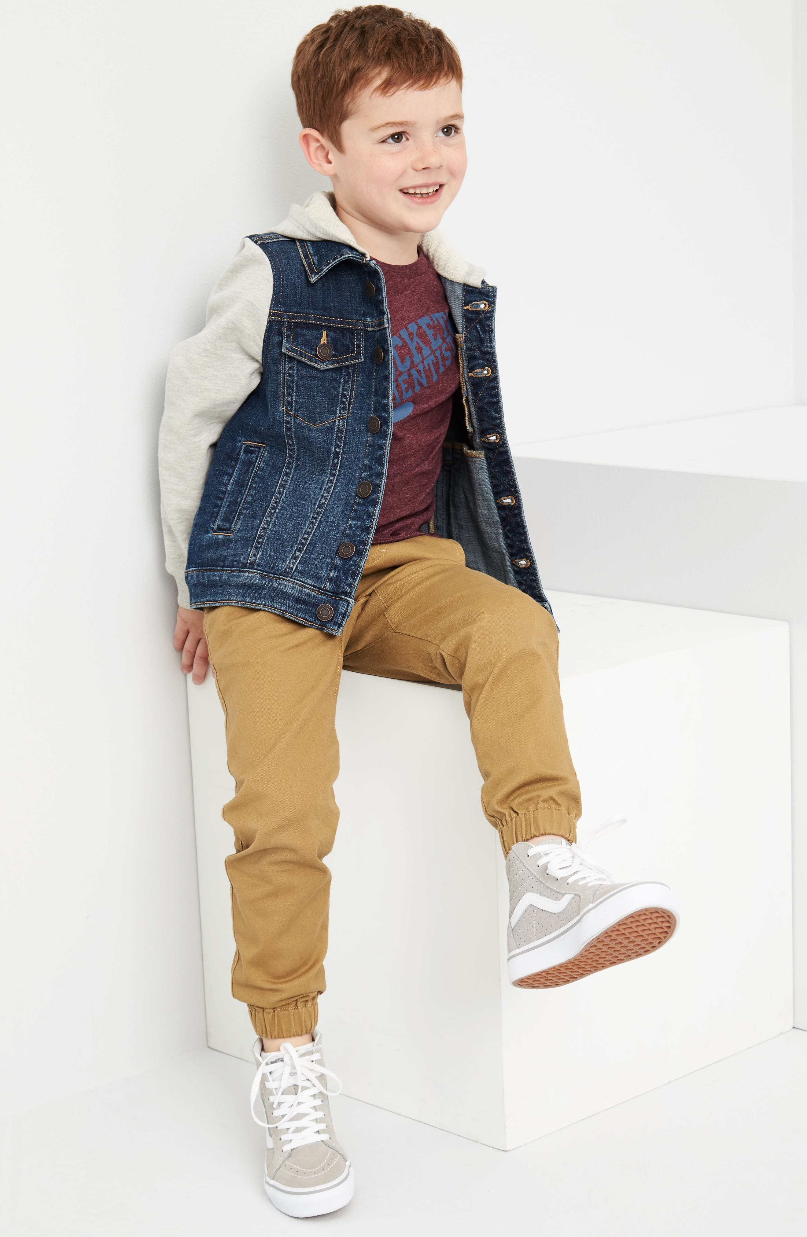 Tucker + Tate Jacket, T-Shirt & Pants Outfit with Accessories (Toddler Boys & Little Boys)