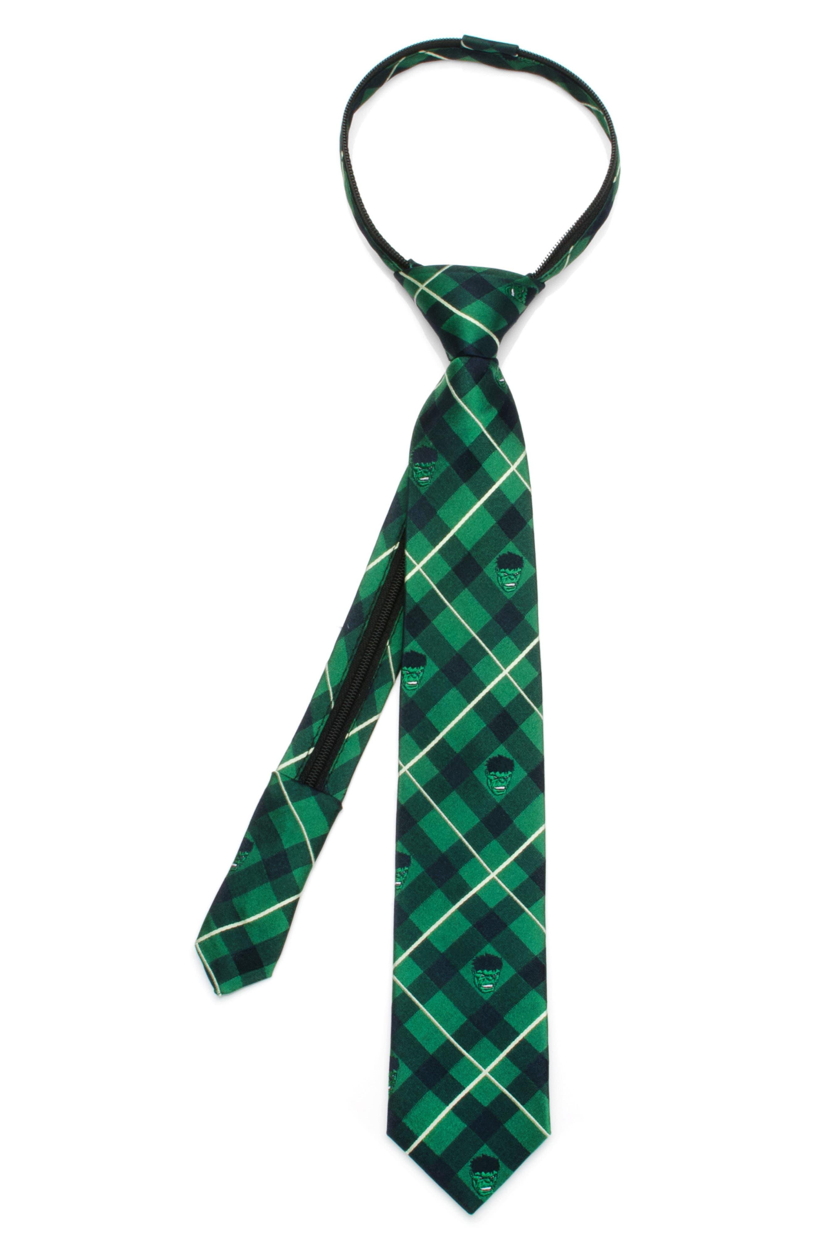 Cufflinks, Inc. Marvel - The Incredible Hulk Zip Silk Tie (Boys)