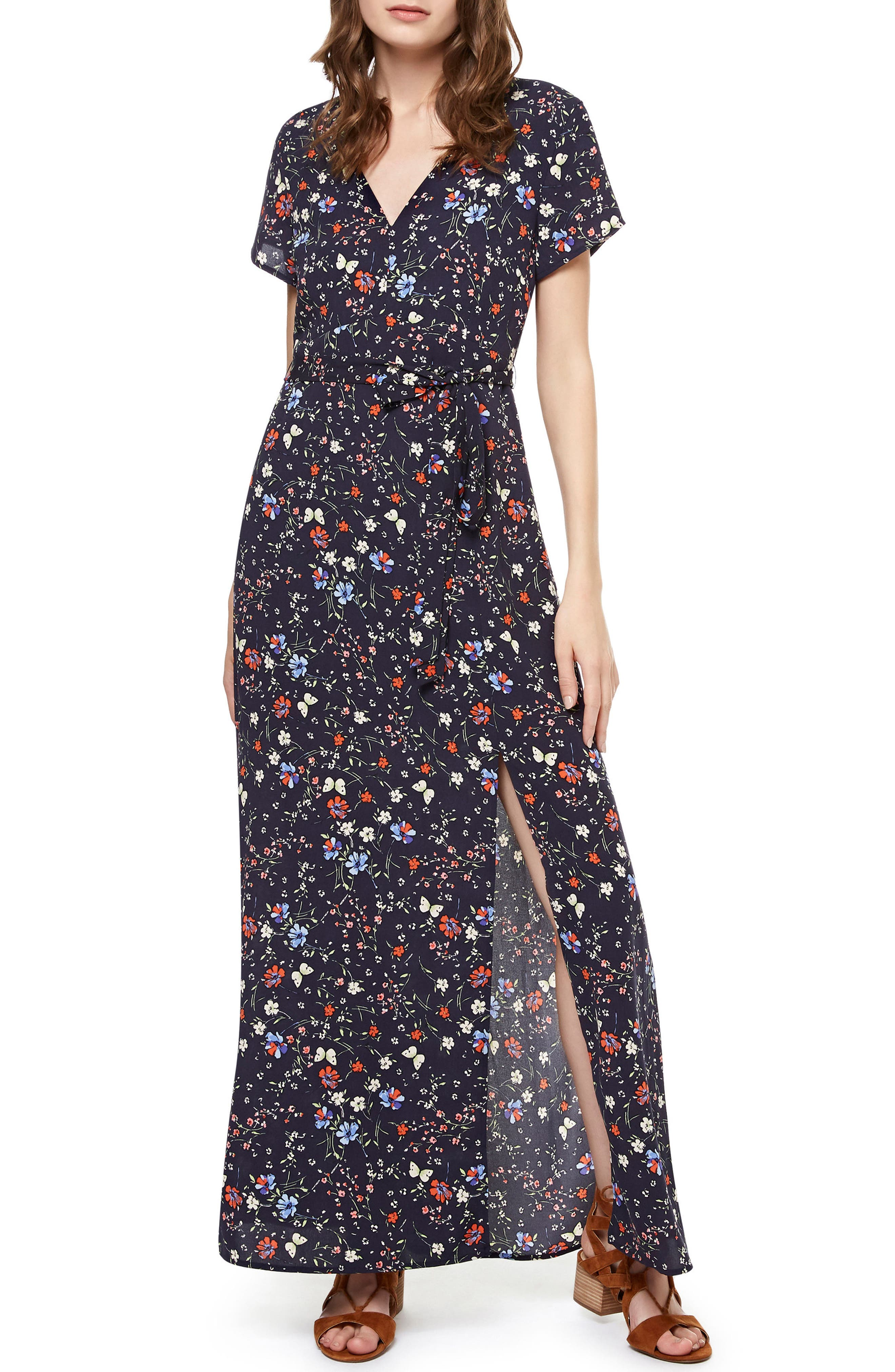 Sanctuary Coco Floral A-Line Maxi Dress
