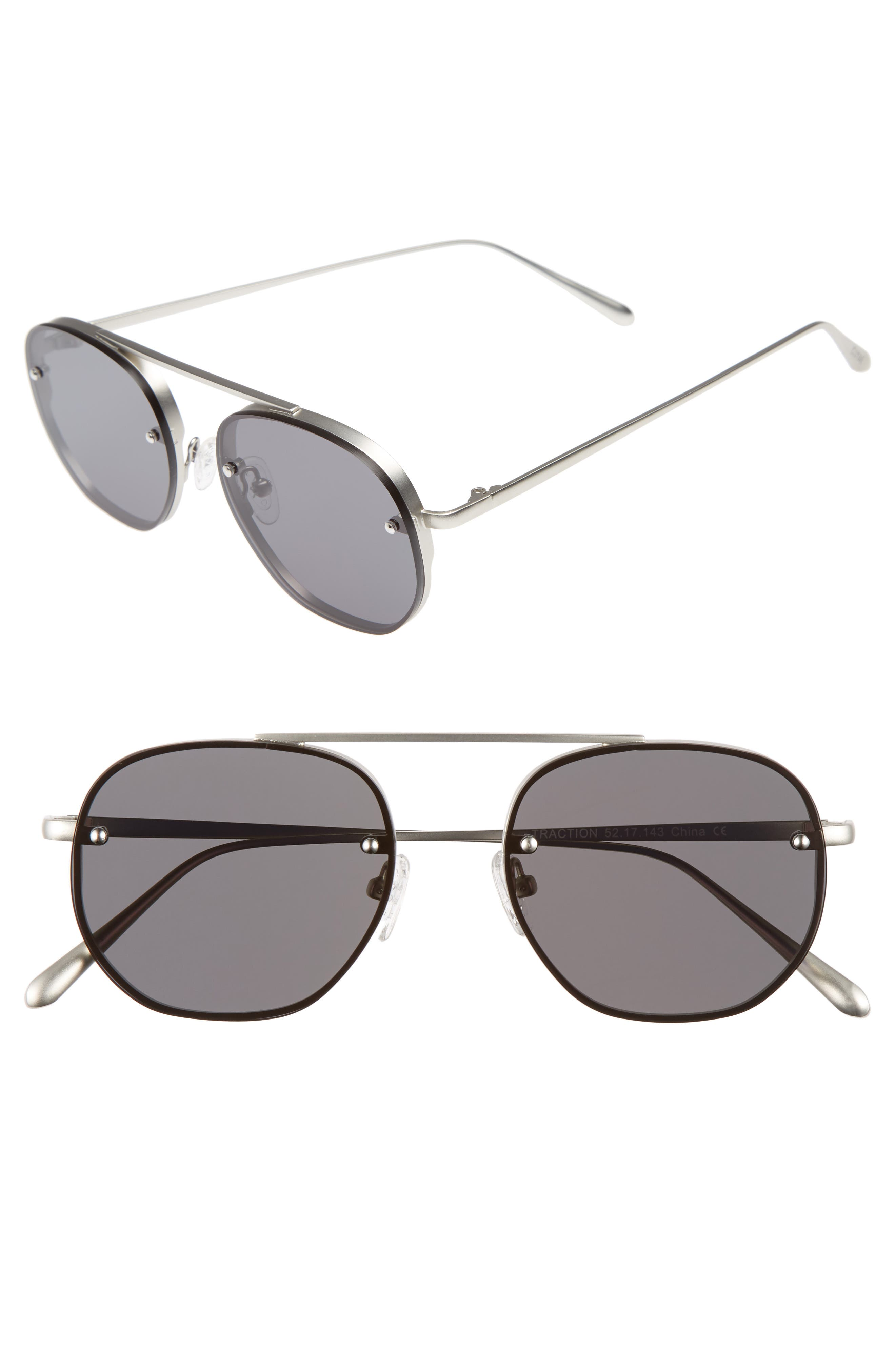 Bonnie Clyde Traction 52mm Aviator Sunglasses