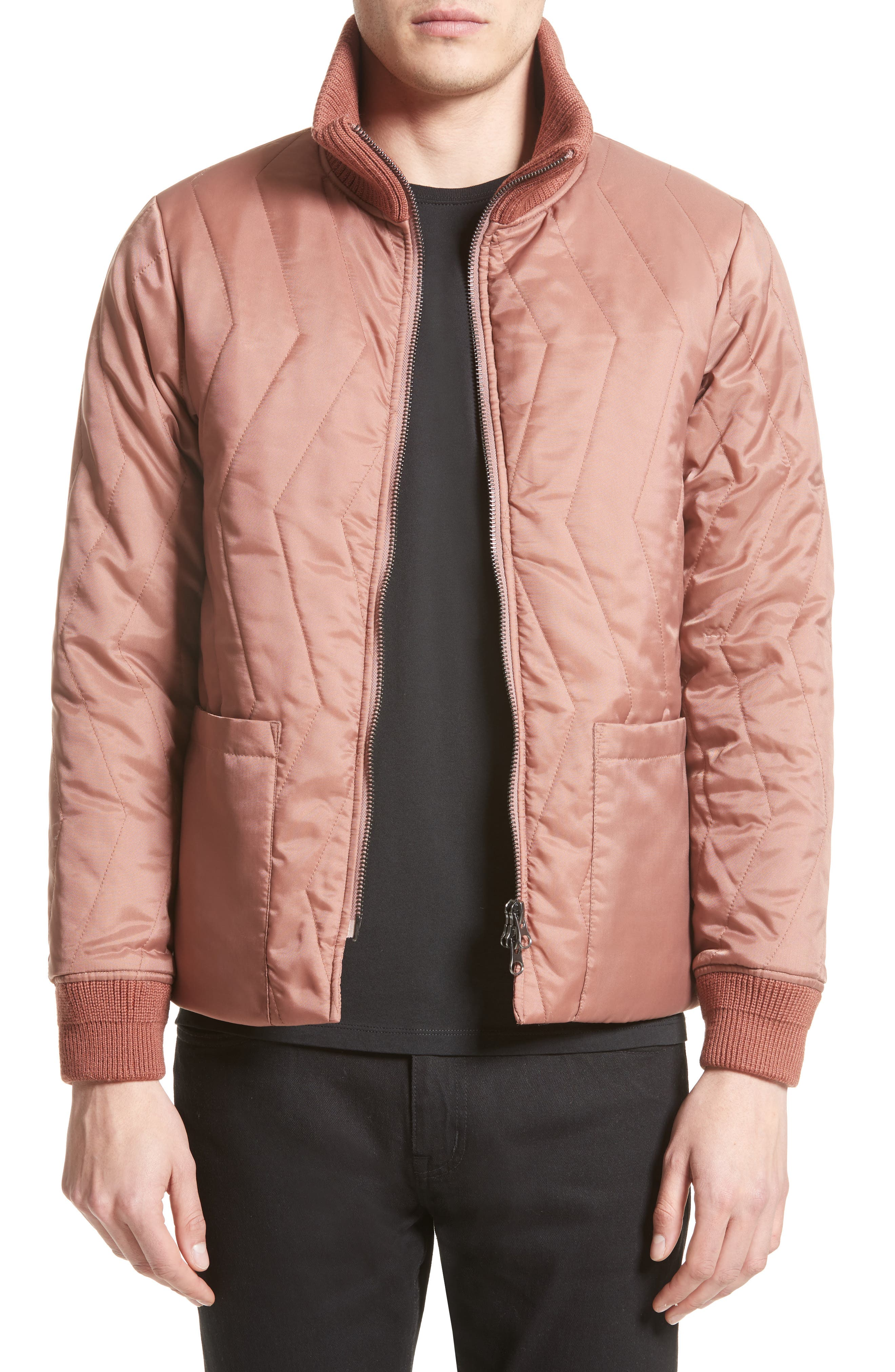 Saturdays NYC Nazar Quilted Bomber Jacket
