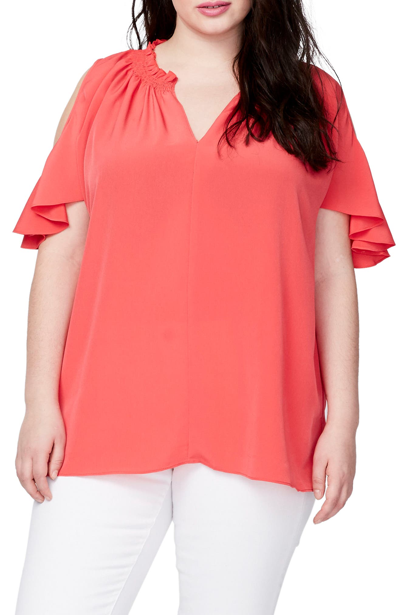RACHEL Rachel Roy Vanessa Cold Shoulder Top (Plus Size)