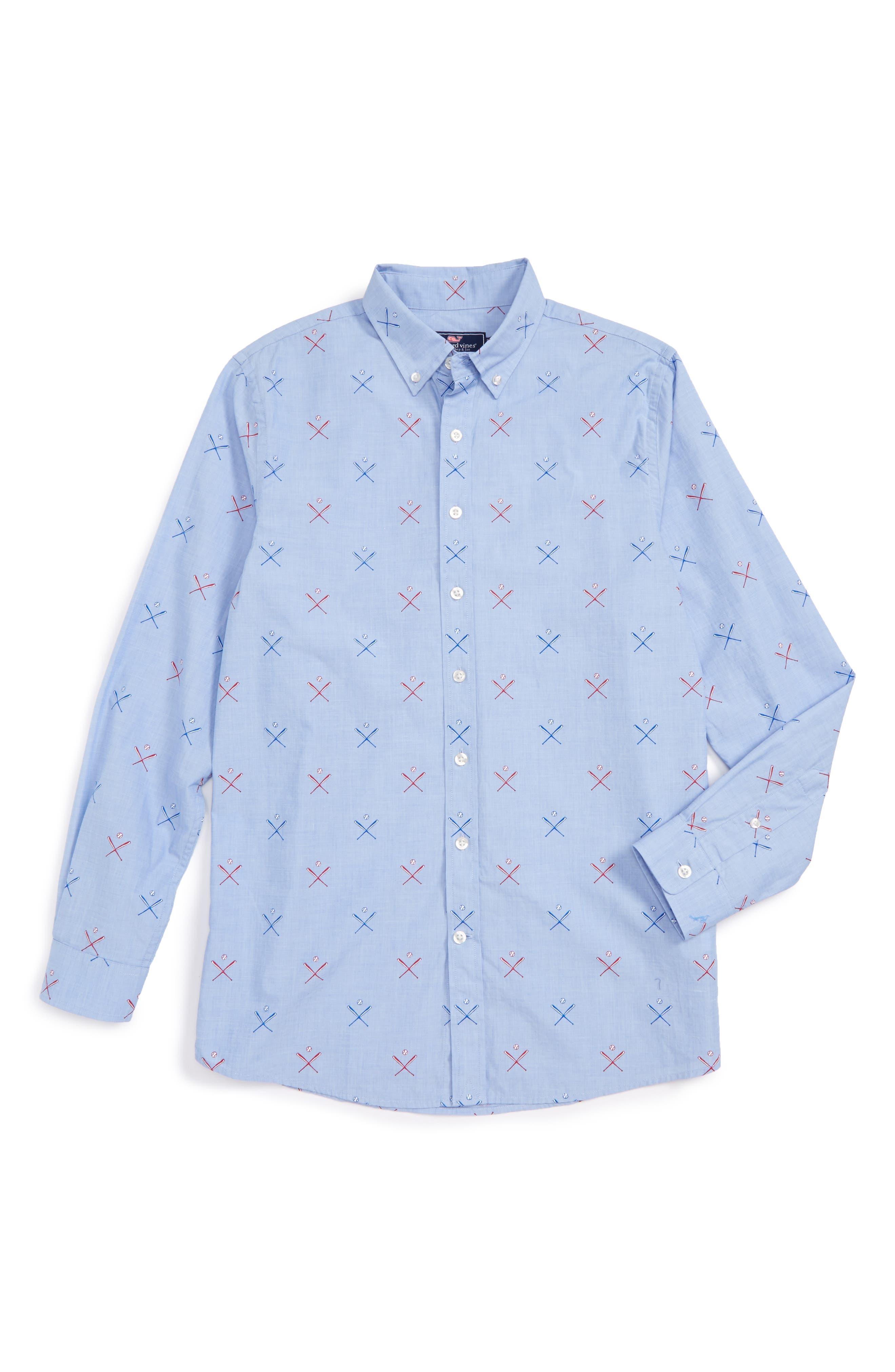 Vineyard Vines Baseball Whale Shirt (Toddler Boys, Little Boys & Big Boys)