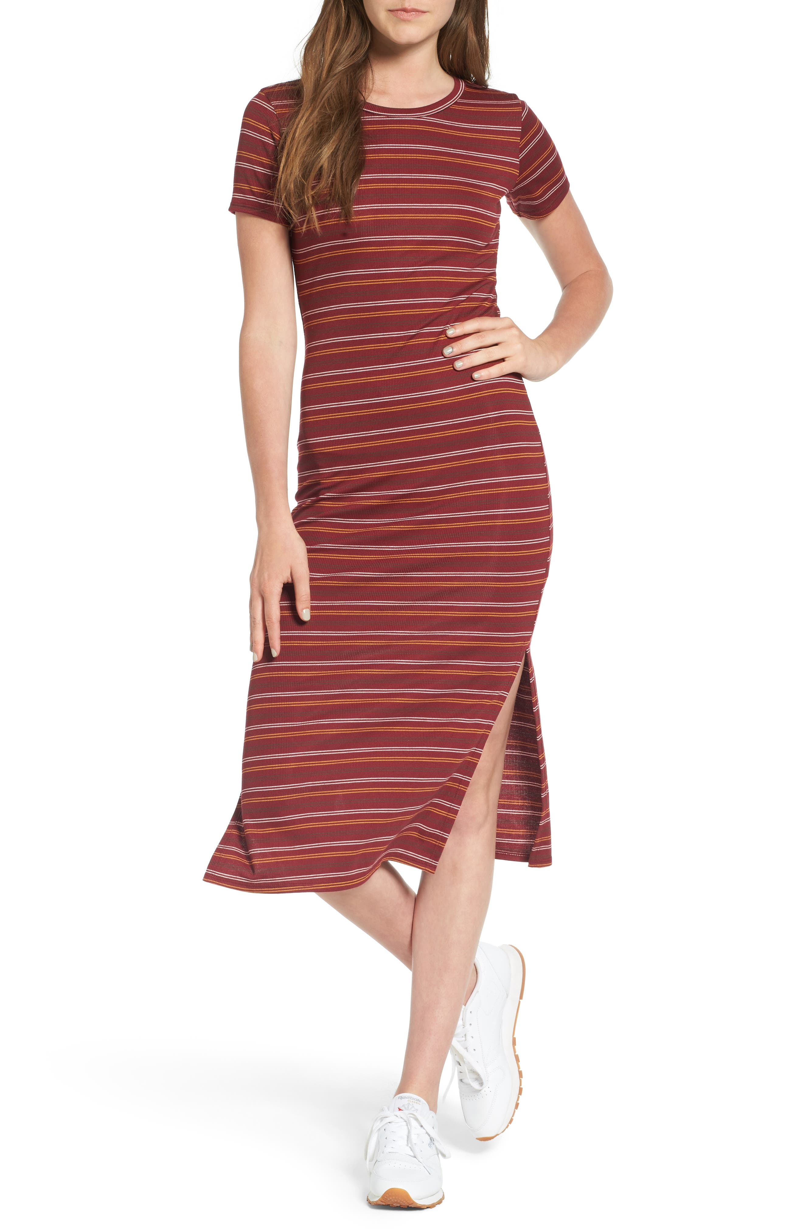 Dee Elly Stripe Midi T-Shirt Dress