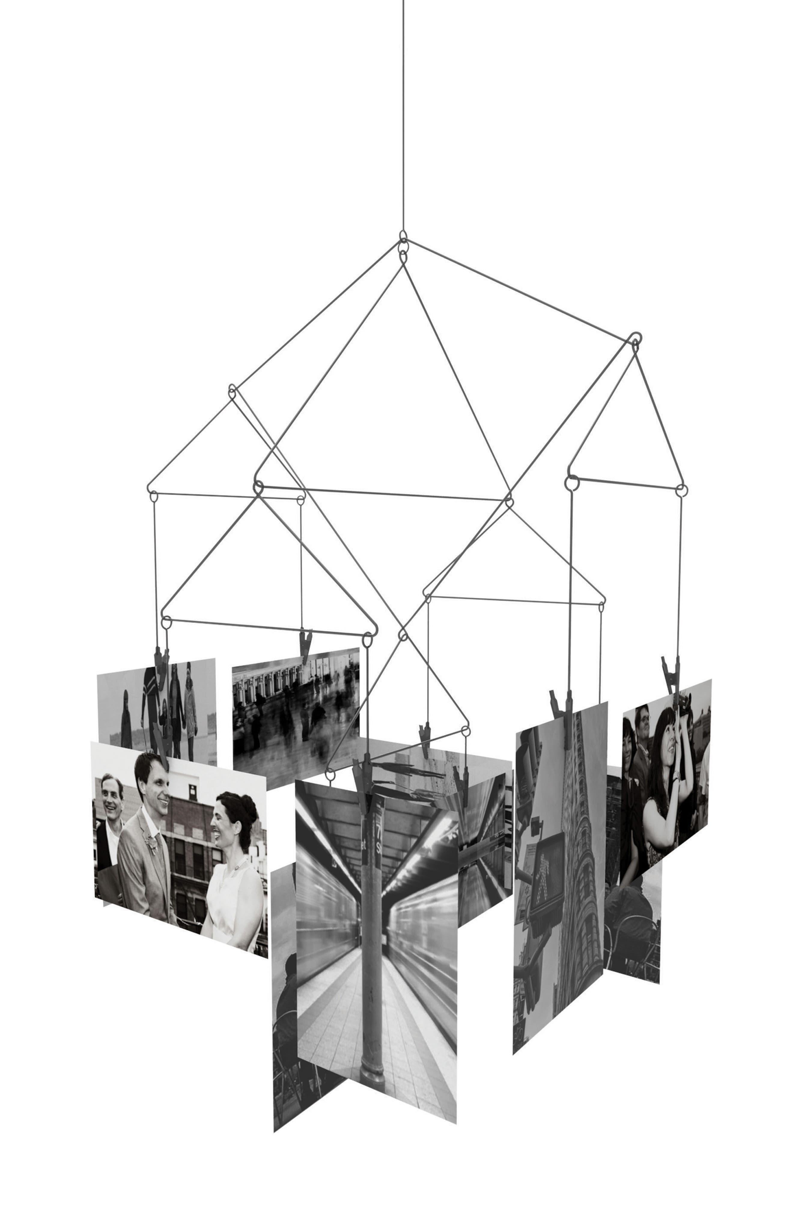 Kikkerland Design Geometric Photo Mobile