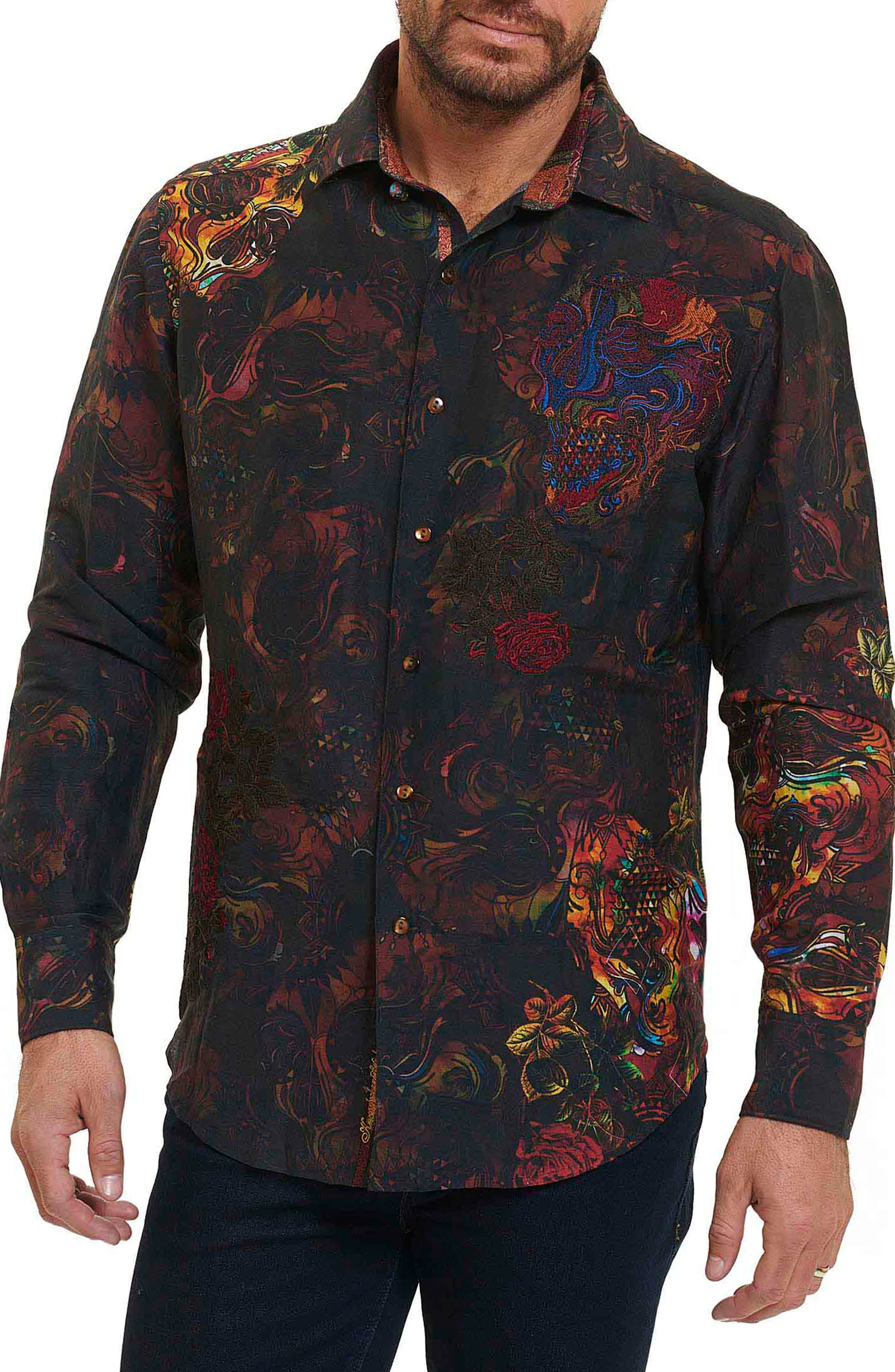 Robert Graham Mystical Garden Print Linen Sport Shirt (Limited Edition)