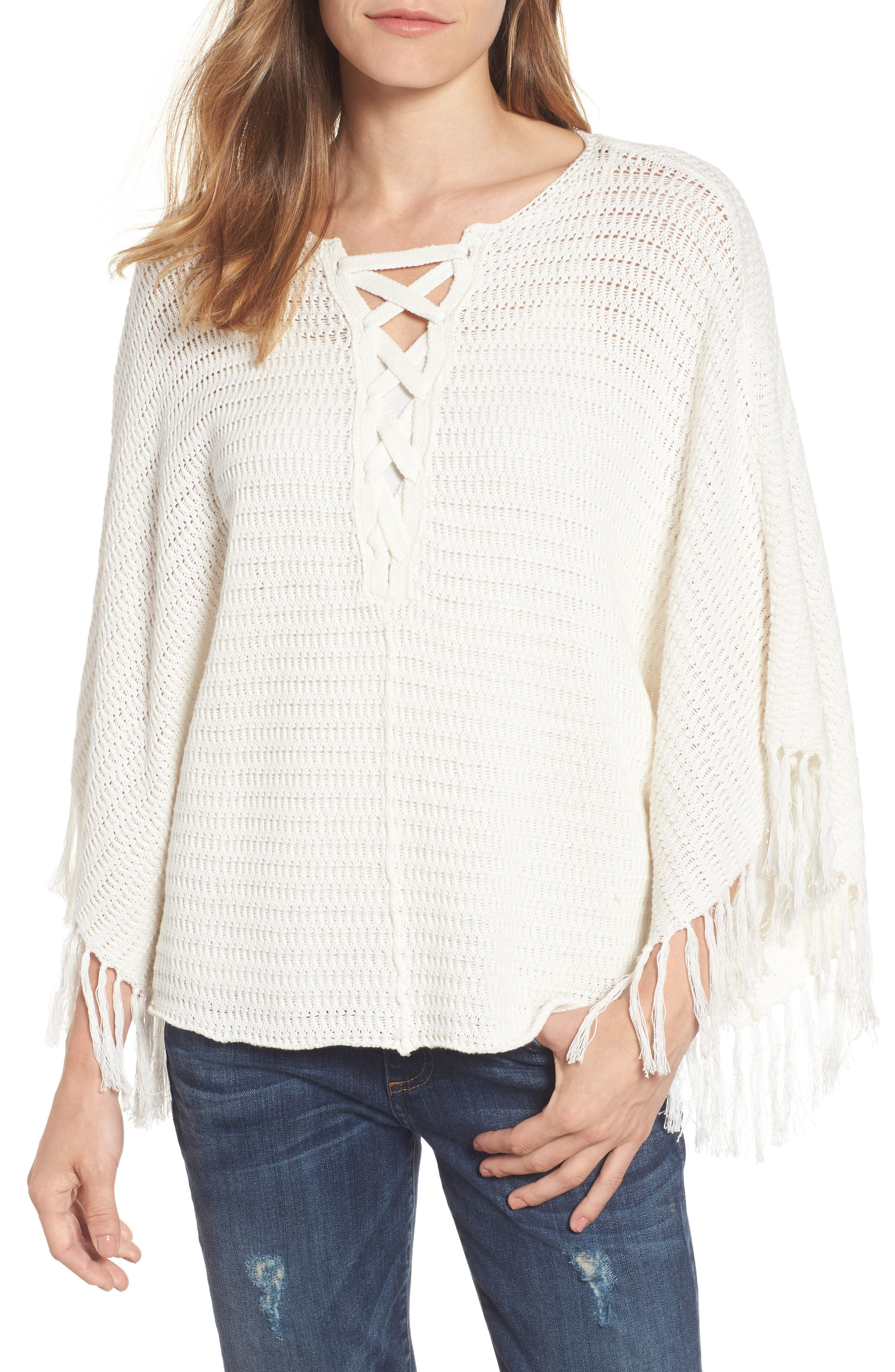 Velvet by Graham & Spencer Fringe Trim Crochet Top