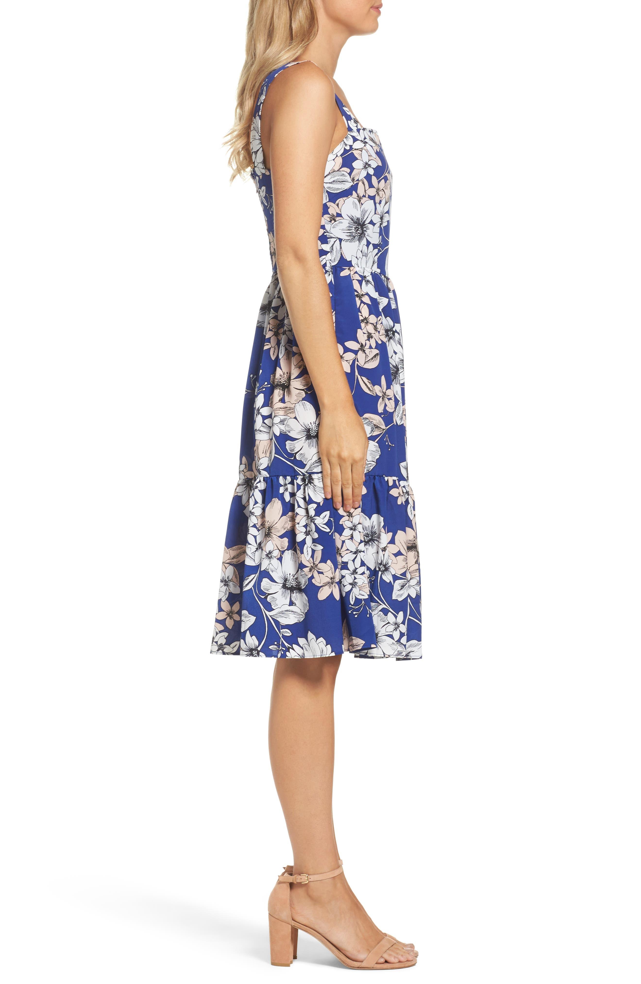Alternate Image 3  - Eliza J Floral Print Fit & Flare Dress