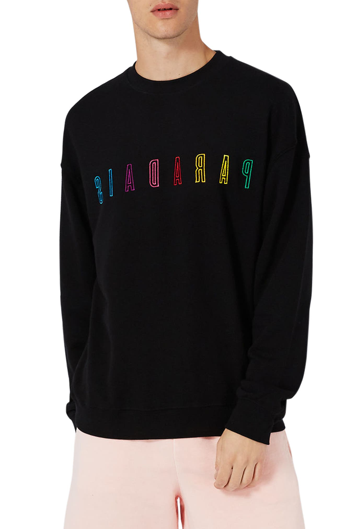 Topman Paradais Embroidered Sweatshirt