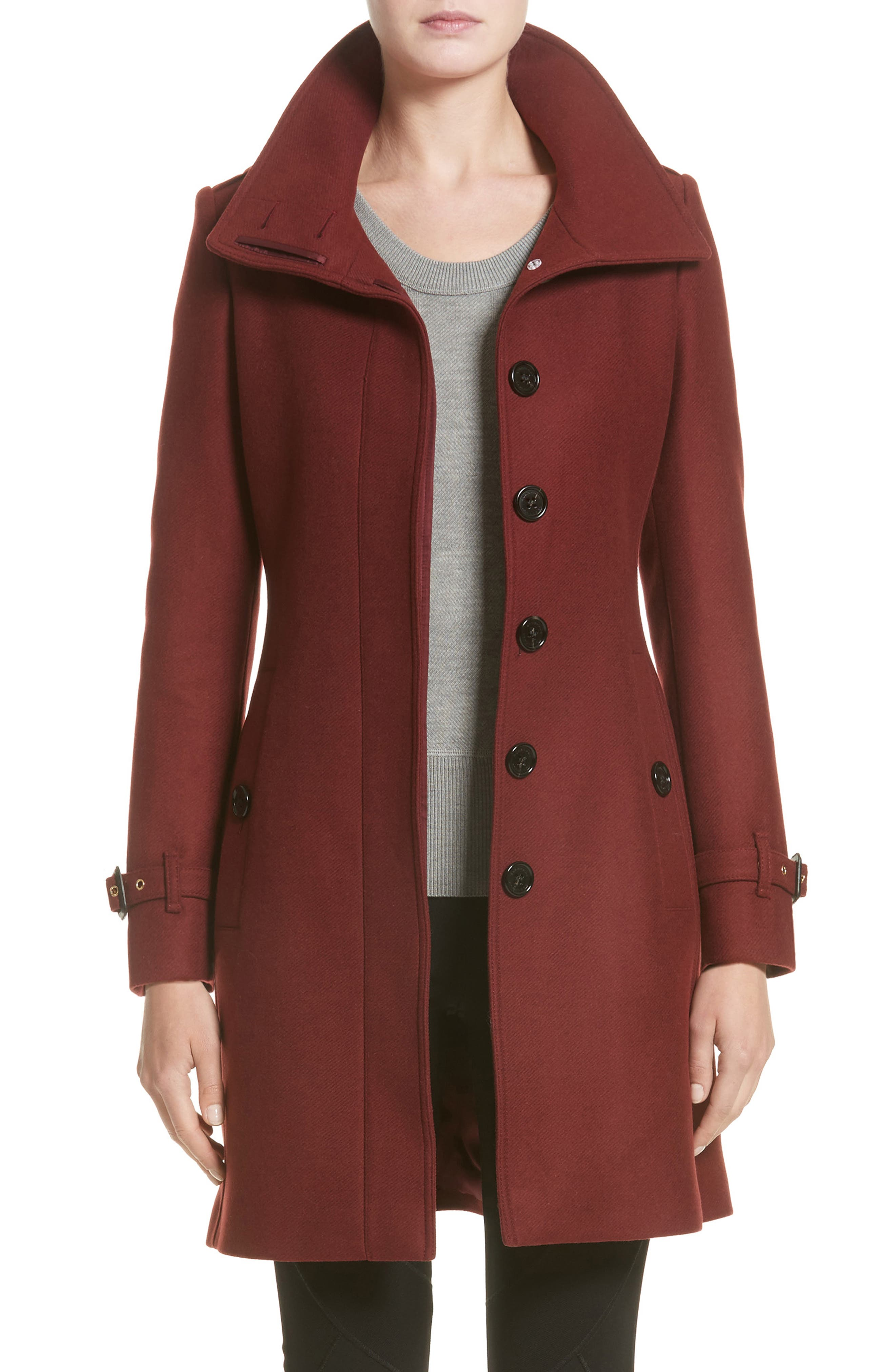 Burberry Gibbsmoore Funnel Collar Trench Coat (Nordstrom Exclusive)