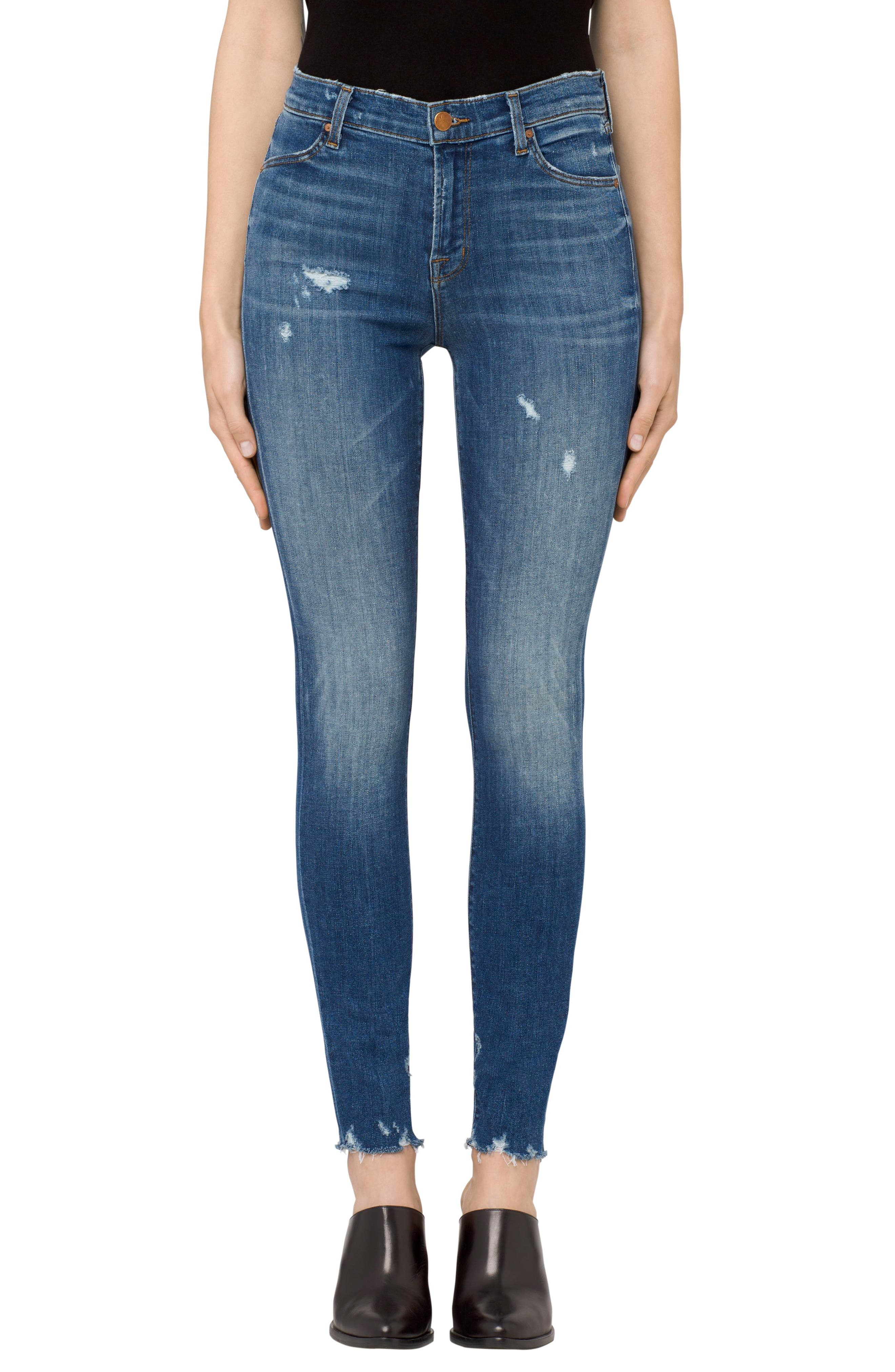 J Brand Maria High Waist Skinny Jeans (Identity Destruct)